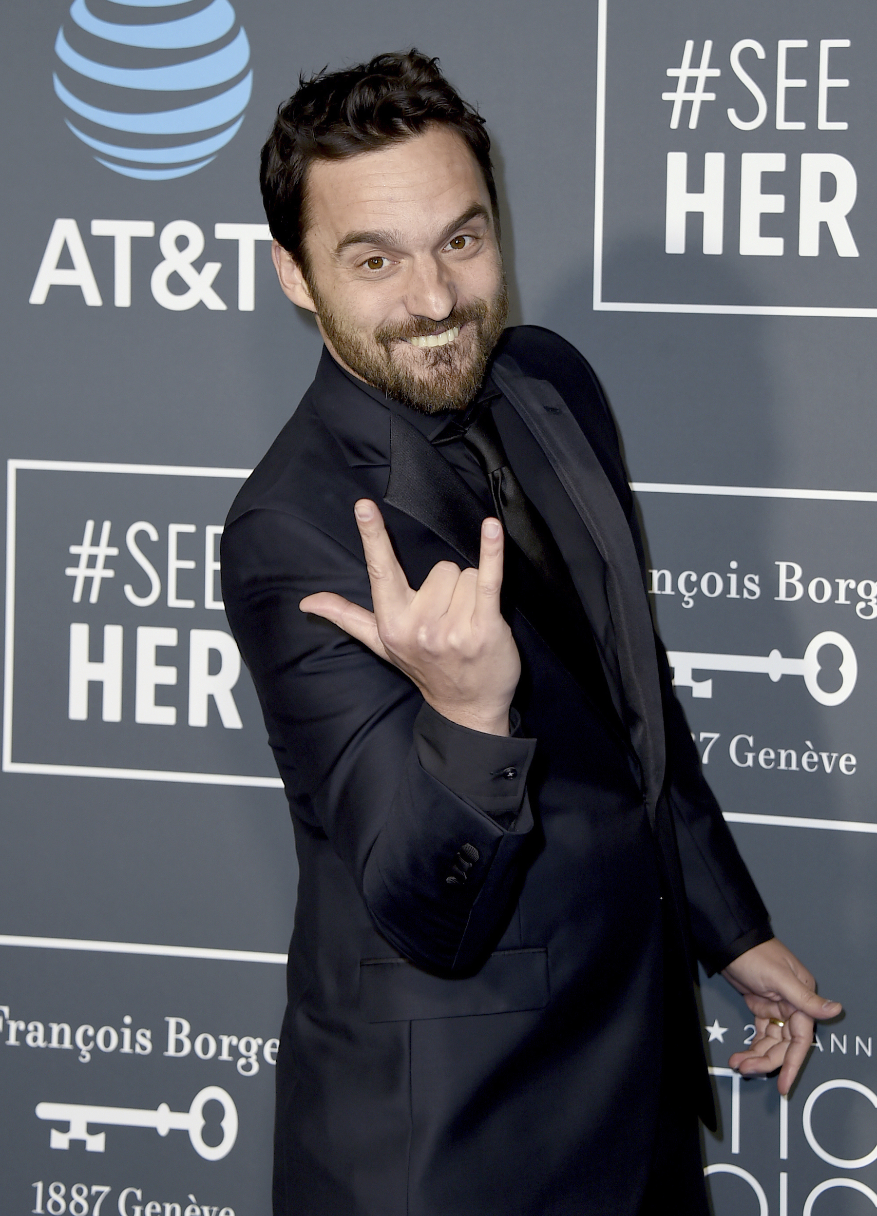 <div class='meta'><div class='origin-logo' data-origin='AP'></div><span class='caption-text' data-credit='Jordan Strauss/Invision/AP'>Jake Johnson arrives at the 24th annual Critics' Choice Awards on Sunday, Jan. 13, 2019, at the Barker Hangar in Santa Monica, Calif.</span></div>