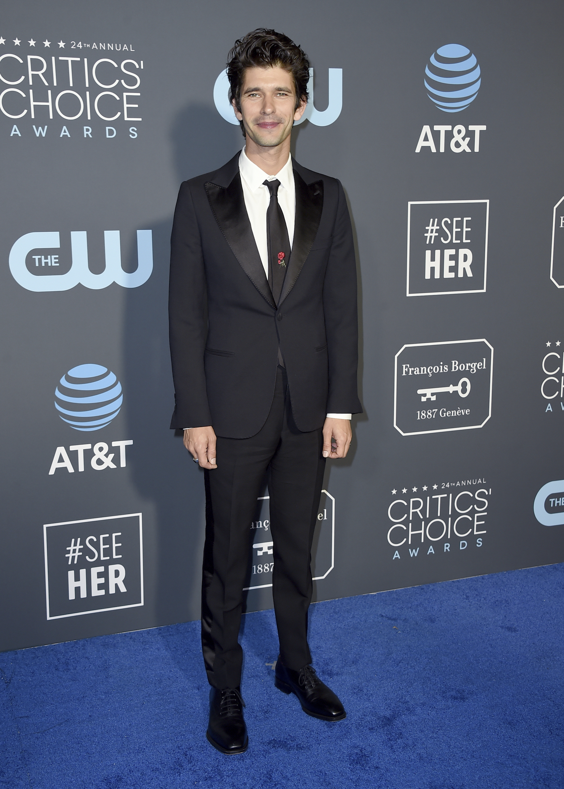 <div class='meta'><div class='origin-logo' data-origin='AP'></div><span class='caption-text' data-credit='Jordan Strauss/Invision/AP'>Ben Whishaw arrives at the 24th annual Critics' Choice Awards on Sunday, Jan. 13, 2019, at the Barker Hangar in Santa Monica, Calif.</span></div>