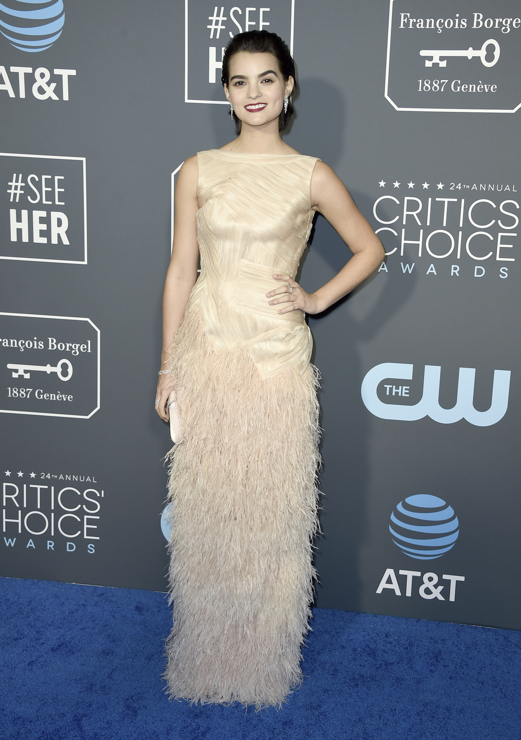 <div class='meta'><div class='origin-logo' data-origin='AP'></div><span class='caption-text' data-credit='Jordan Strauss/Invision/AP'>Brianna Hildebrand arrives at the 24th annual Critics' Choice Awards on Sunday, Jan. 13, 2019, at the Barker Hangar in Santa Monica, Calif.</span></div>
