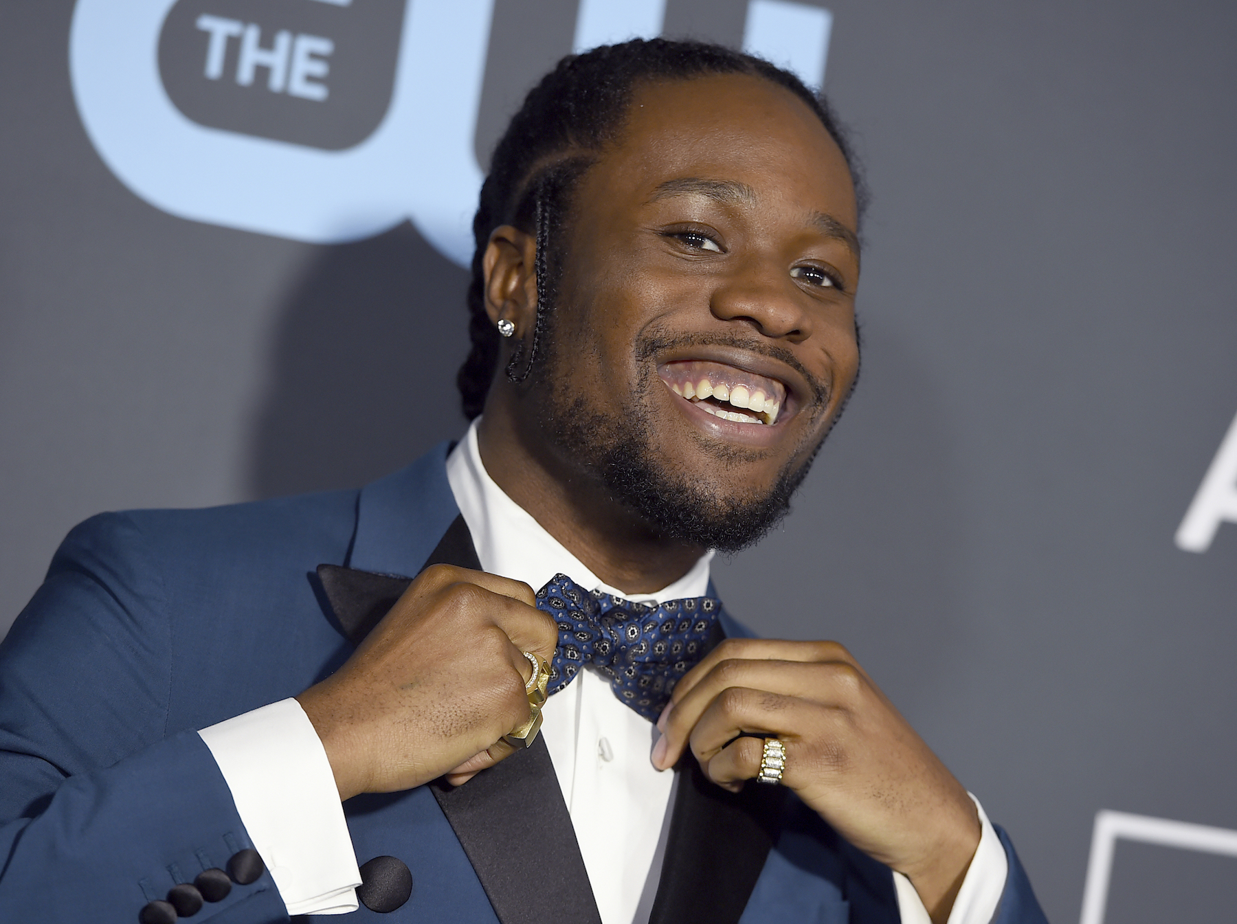 <div class='meta'><div class='origin-logo' data-origin='AP'></div><span class='caption-text' data-credit='Jordan Strauss/Invision/AP'>Shameik Moore arrives at the 24th annual Critics' Choice Awards on Sunday, Jan. 13, 2019, at the Barker Hangar in Santa Monica, Calif.</span></div>