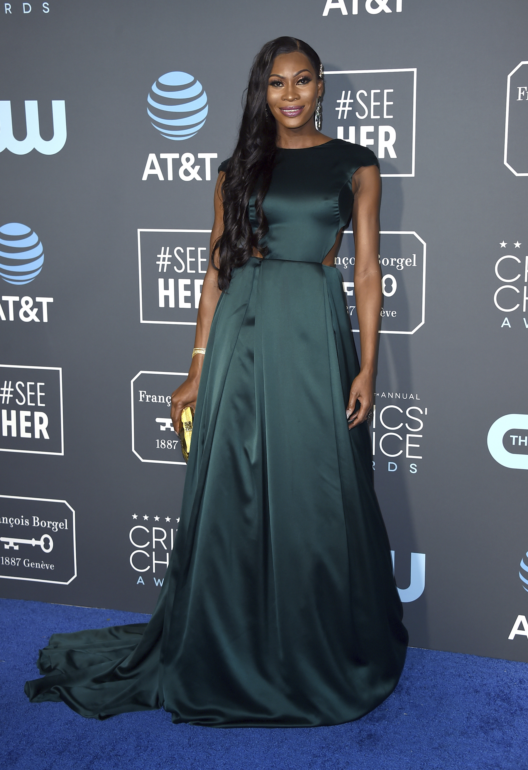 "<div class=""meta image-caption""><div class=""origin-logo origin-image ap""><span>AP</span></div><span class=""caption-text"">Dominique Jackson arrives at the 24th annual Critics' Choice Awards on Sunday, Jan. 13, 2019, at the Barker Hangar in Santa Monica, Calif. (Jordan Strauss/Invision/AP)</span></div>"