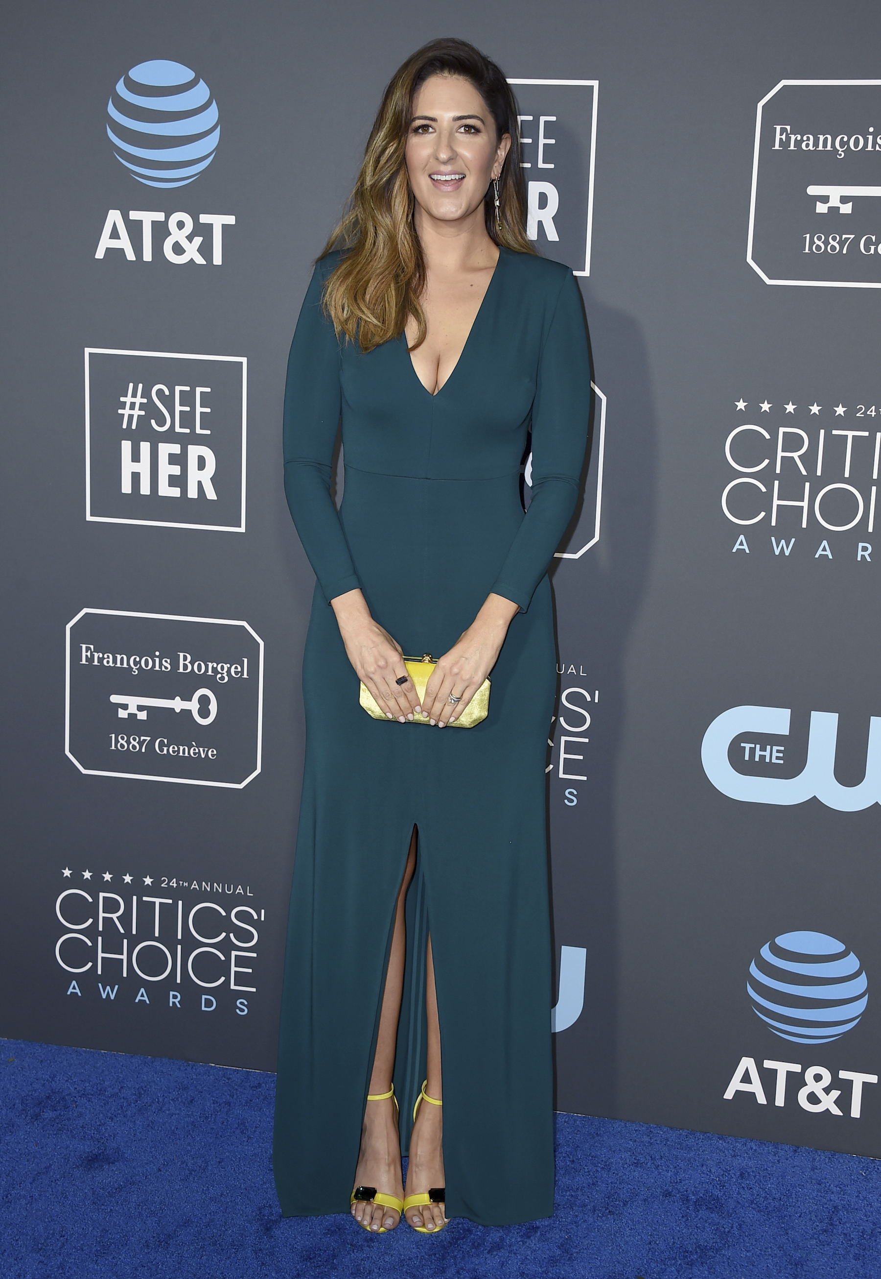 <div class='meta'><div class='origin-logo' data-origin='AP'></div><span class='caption-text' data-credit='Jordan Strauss/Invision/AP'>D'Arcy Carden arrives at the 24th annual Critics' Choice Awards on Sunday, Jan. 13, 2019, at the Barker Hangar in Santa Monica, Calif.</span></div>