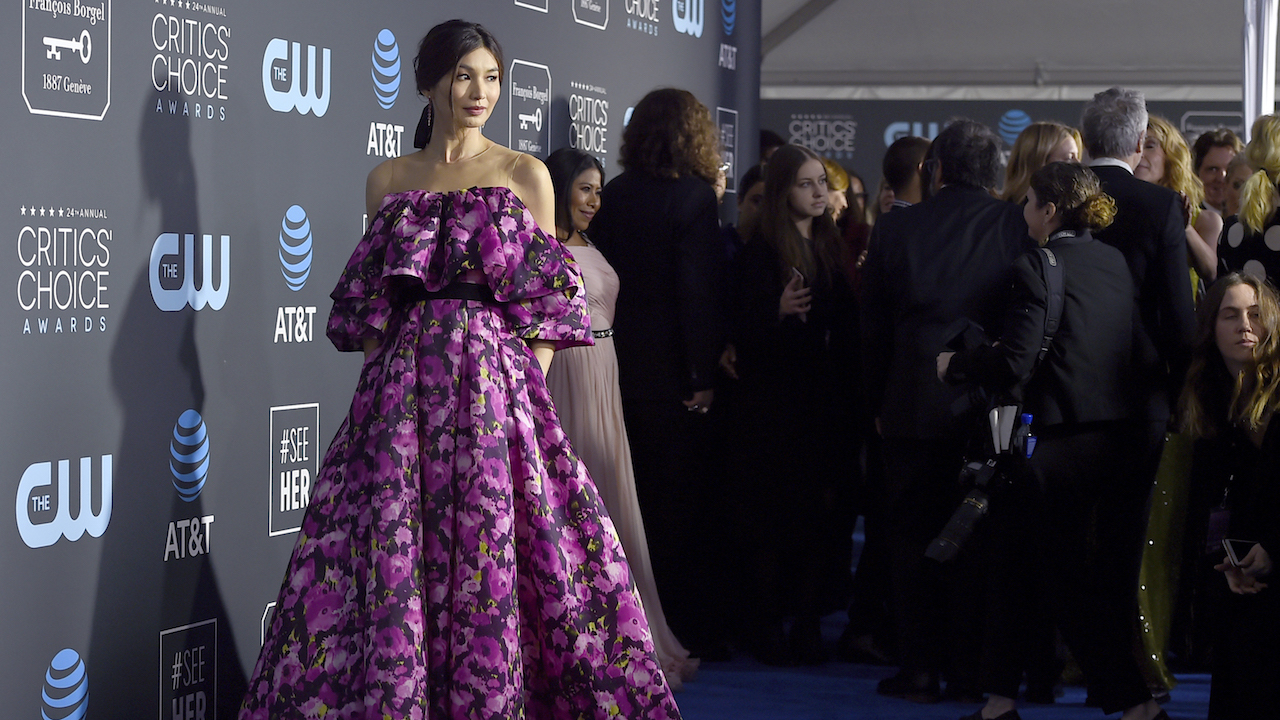 <div class='meta'><div class='origin-logo' data-origin='AP'></div><span class='caption-text' data-credit='Jordan Strauss/Invision/AP'>Gemma Chan arrives at the 24th annual Critics' Choice Awards on Sunday, Jan. 13, 2019, at the Barker Hangar in Santa Monica, Calif.</span></div>