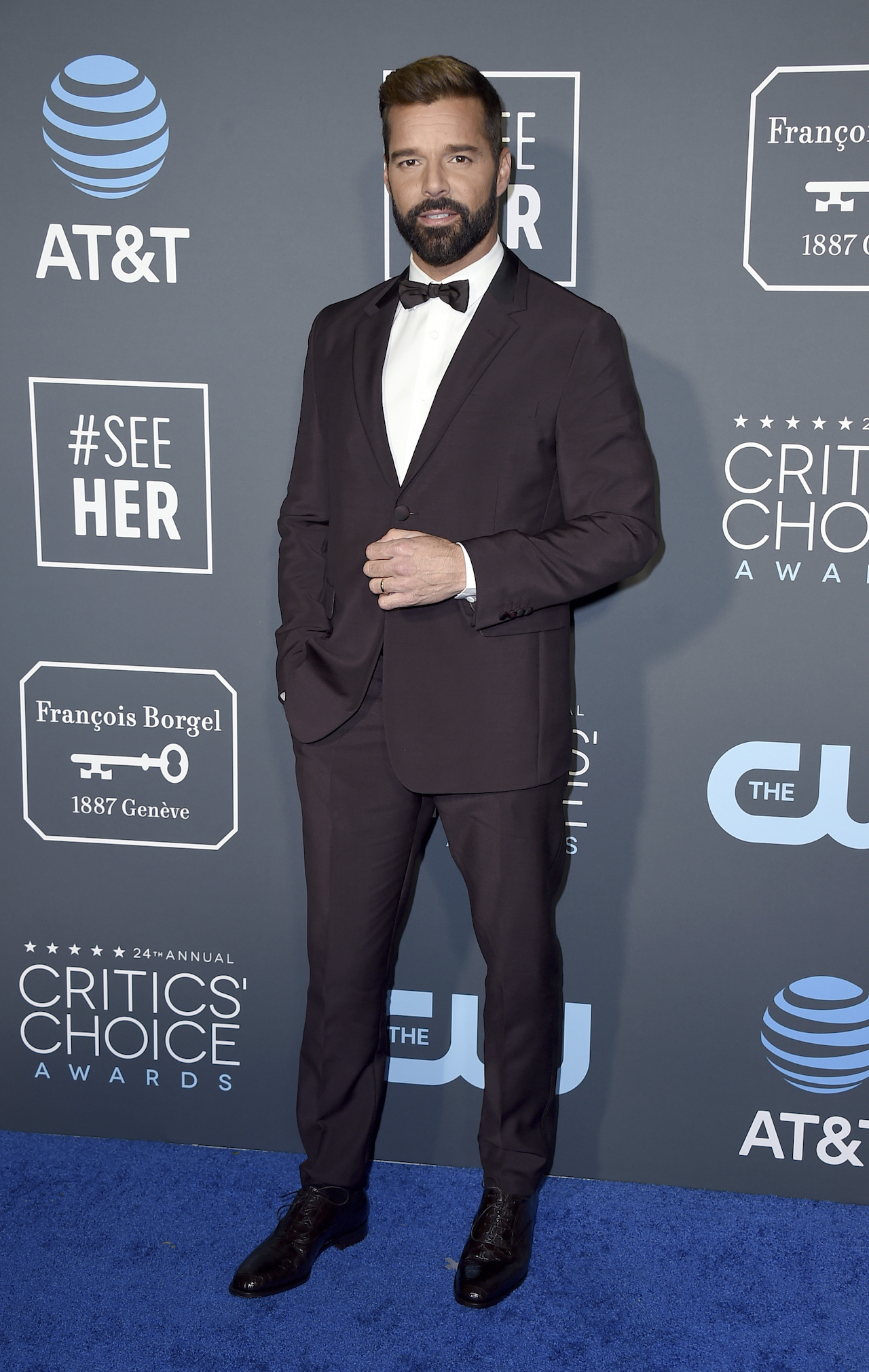 <div class='meta'><div class='origin-logo' data-origin='AP'></div><span class='caption-text' data-credit='Jordan Strauss/Invision/AP'>Ricky Martin arrives at the 24th annual Critics' Choice Awards on Sunday, Jan. 13, 2019, at the Barker Hangar in Santa Monica, Calif.</span></div>