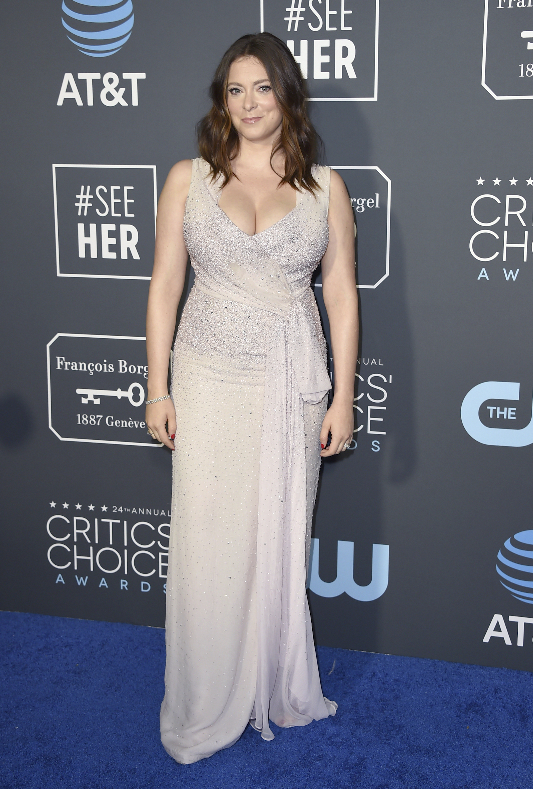 "<div class=""meta image-caption""><div class=""origin-logo origin-image ap""><span>AP</span></div><span class=""caption-text"">Rachel Bloom arrives at the 24th annual Critics' Choice Awards on Sunday, Jan. 13, 2019, at the Barker Hangar in Santa Monica, Calif. (Jordan Strauss/Invision/AP)</span></div>"