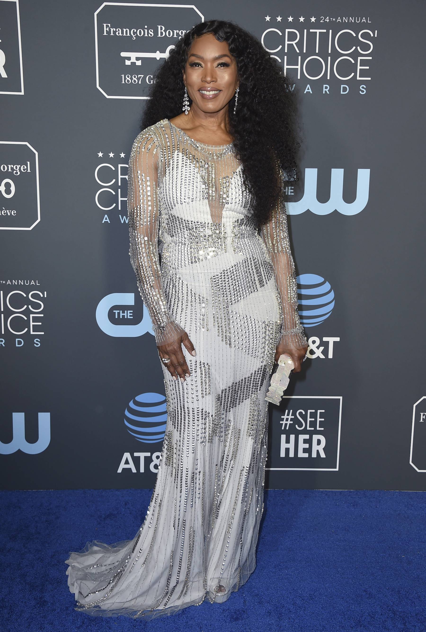 <div class='meta'><div class='origin-logo' data-origin='AP'></div><span class='caption-text' data-credit='Jordan Strauss/Invision/AP'>Angela Bassett arrives at the 24th annual Critics' Choice Awards on Sunday, Jan. 13, 2019, at the Barker Hangar in Santa Monica, Calif.</span></div>
