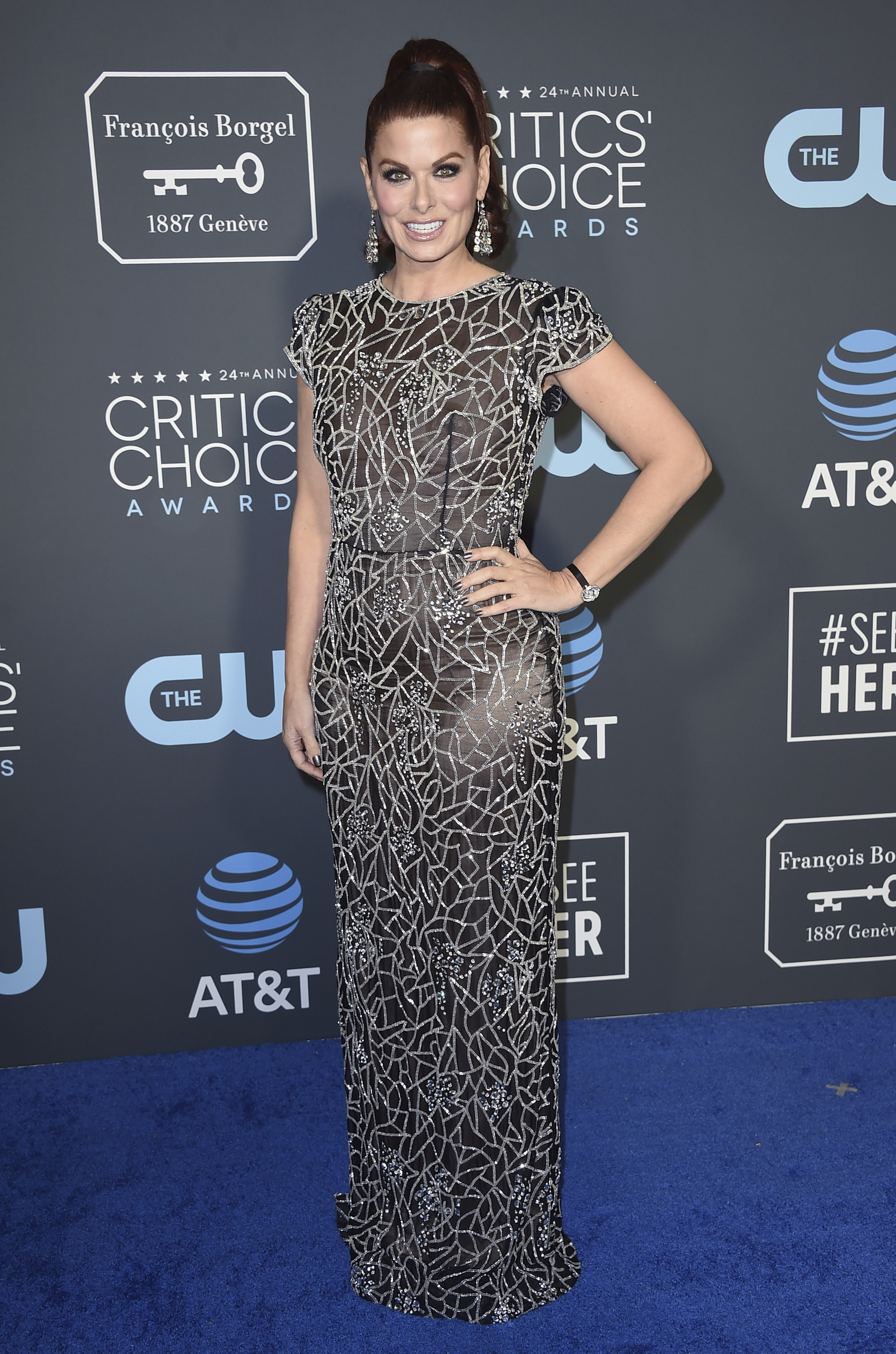 <div class='meta'><div class='origin-logo' data-origin='AP'></div><span class='caption-text' data-credit='Jordan Strauss/Invision/AP'>Debra Messing arrives at the 24th annual Critics' Choice Awards on Sunday, Jan. 13, 2019, at the Barker Hangar in Santa Monica, Calif.</span></div>