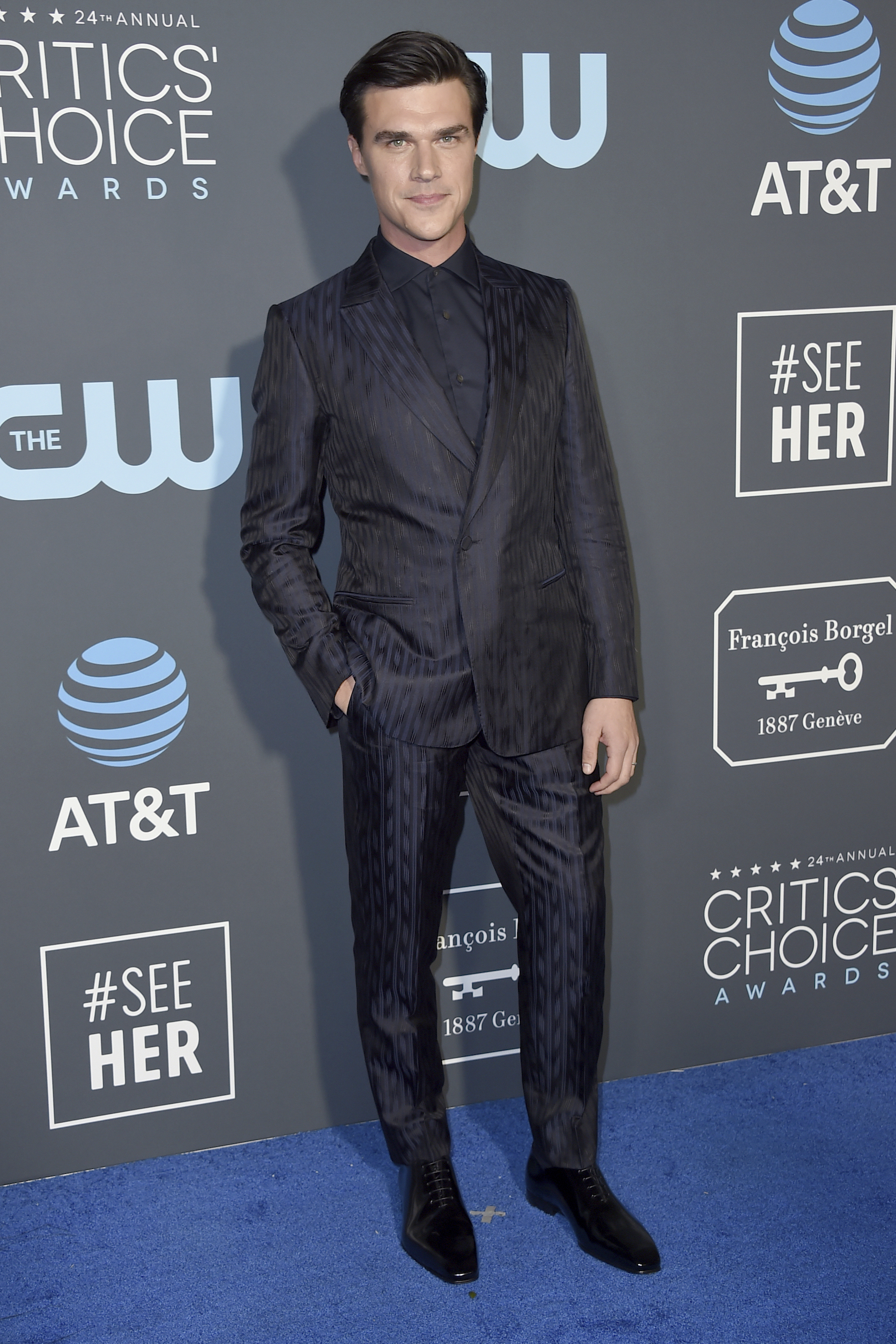 <div class='meta'><div class='origin-logo' data-origin='AP'></div><span class='caption-text' data-credit='Jordan Strauss/Invision/AP'>Finn Wittrock arrives at the 24th annual Critics' Choice Awards on Sunday, Jan. 13, 2019, at the Barker Hangar in Santa Monica, Calif.</span></div>