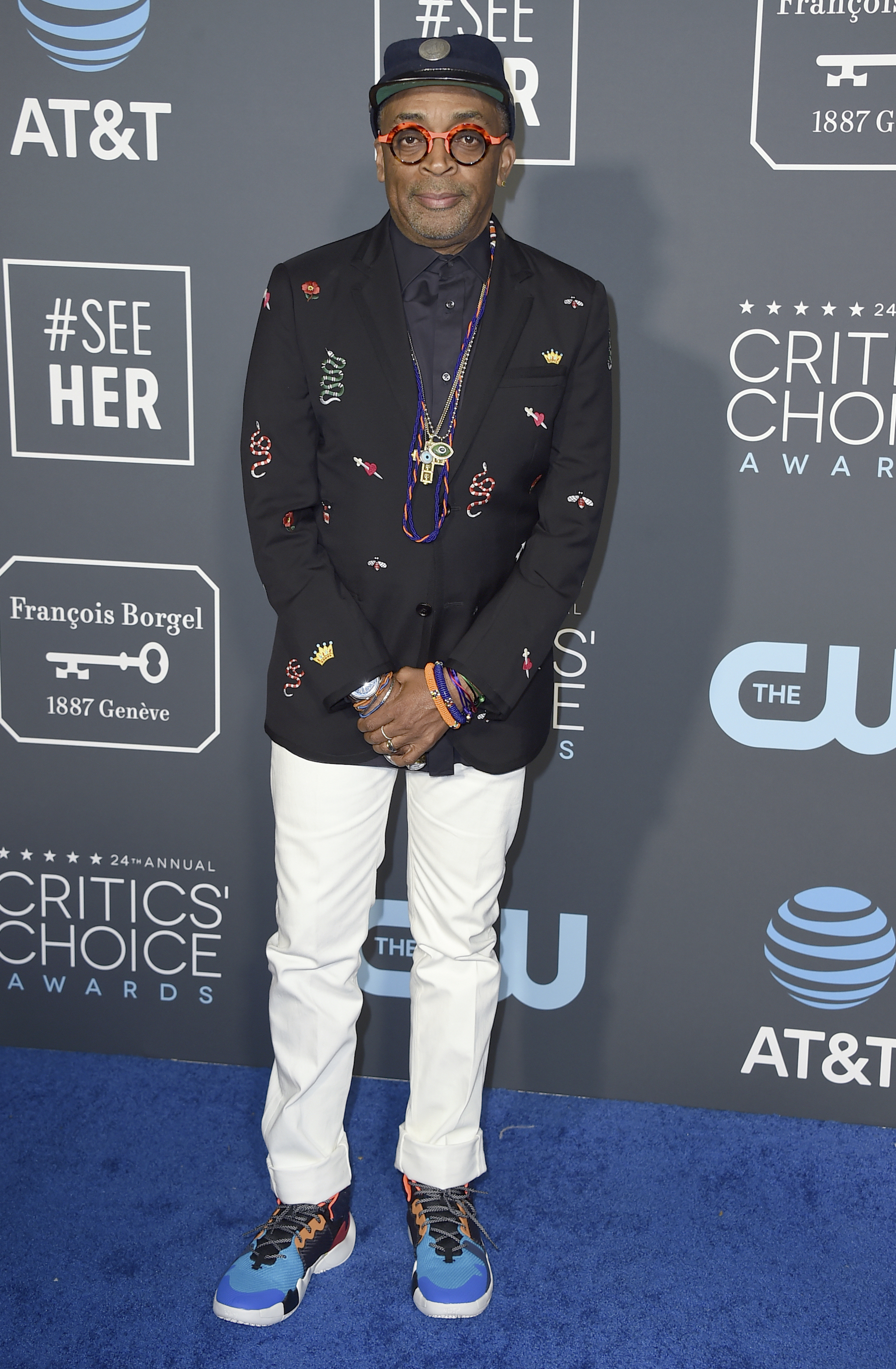 <div class='meta'><div class='origin-logo' data-origin='AP'></div><span class='caption-text' data-credit='Jordan Strauss/Invision/AP'>Spike Lee arrives at the 24th annual Critics' Choice Awards on Sunday, Jan. 13, 2019, at the Barker Hangar in Santa Monica, Calif.</span></div>