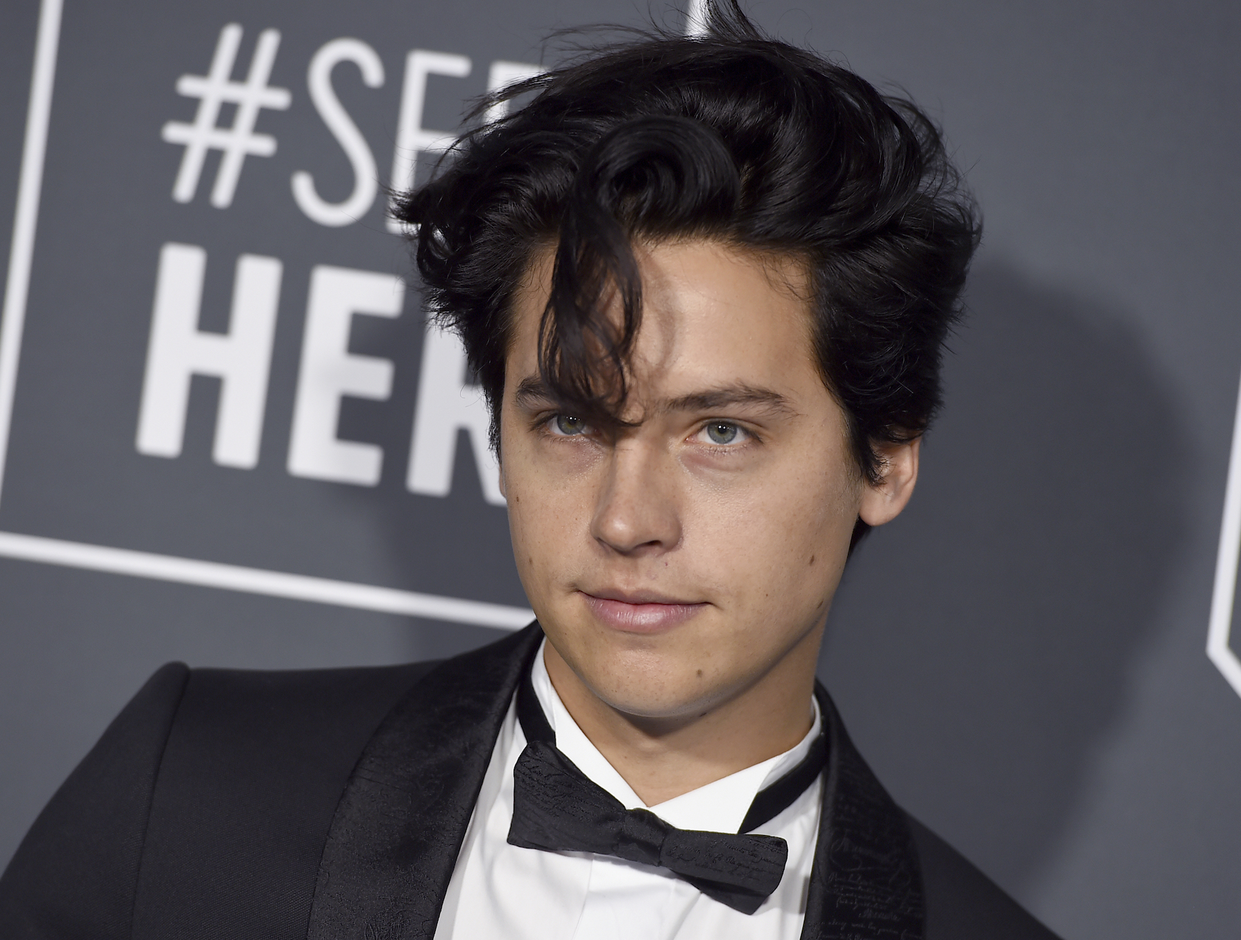 <div class='meta'><div class='origin-logo' data-origin='AP'></div><span class='caption-text' data-credit='Jordan Strauss/Invision/AP'>Cole Sprouse arrives at the 24th annual Critics' Choice Awards on Sunday, Jan. 13, 2019, at the Barker Hangar in Santa Monica, Calif.</span></div>