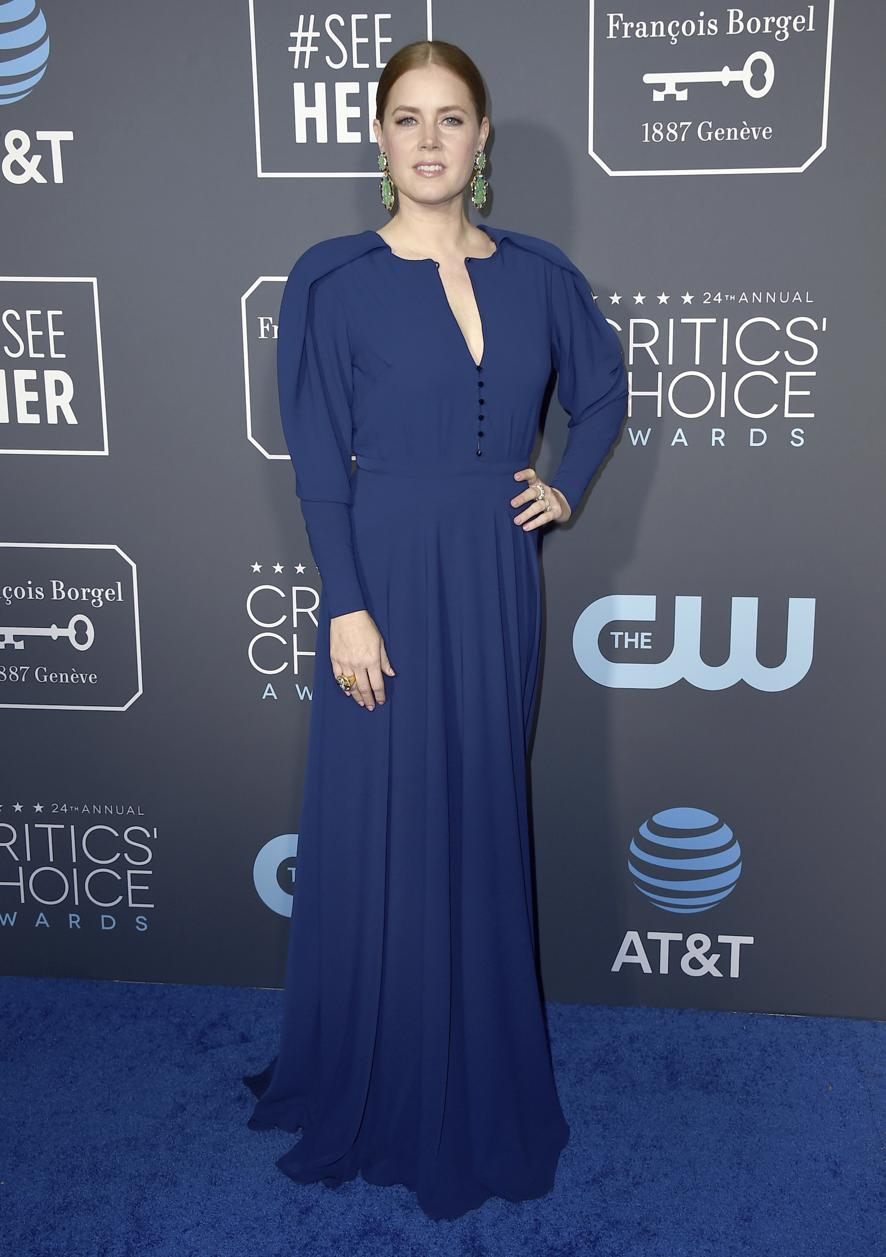 <div class='meta'><div class='origin-logo' data-origin='AP'></div><span class='caption-text' data-credit='Jordan Strauss/Invision/AP'>Amy Adams arrives at the 24th annual Critics' Choice Awards on Sunday, Jan. 13, 2019, at the Barker Hangar in Santa Monica, Calif.</span></div>