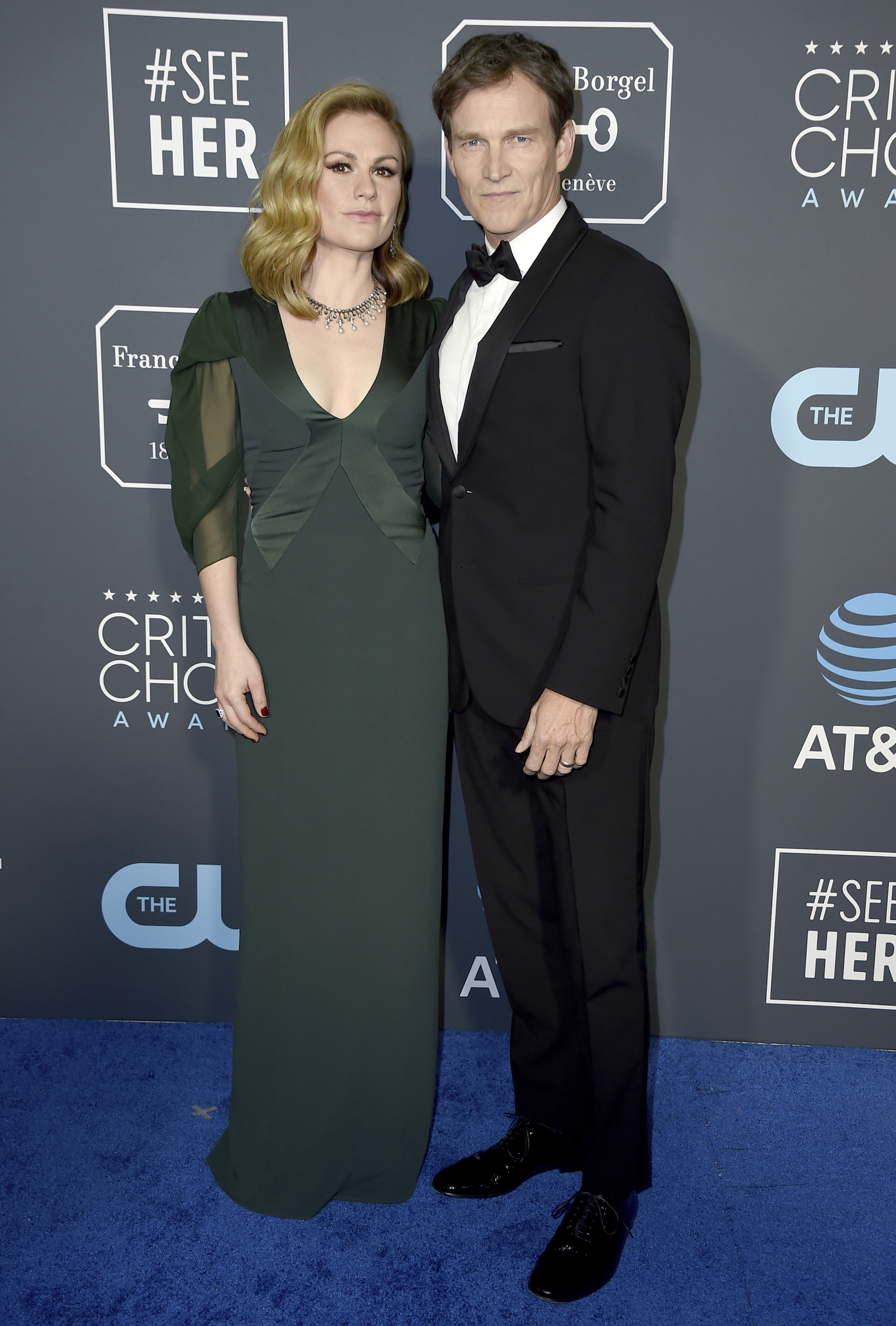 <div class='meta'><div class='origin-logo' data-origin='AP'></div><span class='caption-text' data-credit='Jordan Strauss/Invision/AP'>Anna Paquin, left, and Stephen Moyer arrive at the 24th annual Critics' Choice Awards on Sunday, Jan. 13, 2019, at the Barker Hangar in Santa Monica, Calif.</span></div>
