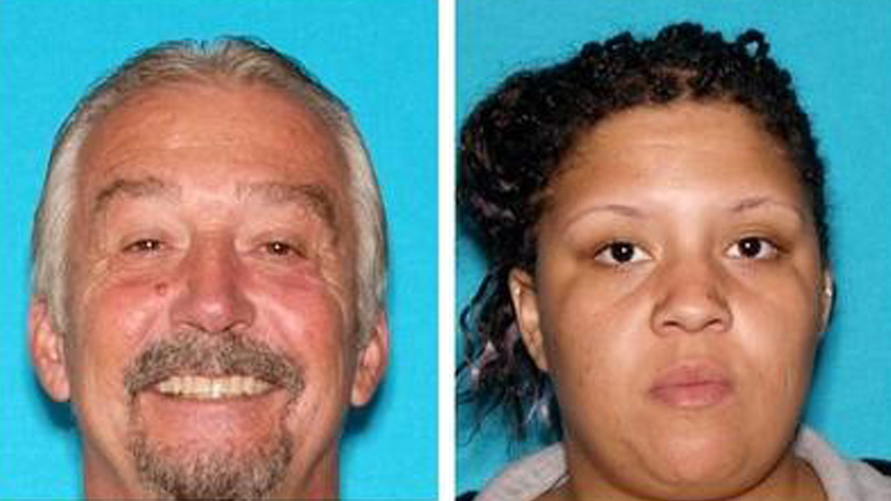 Paul Alfred Eugene Johnson, 59, and Patricia Cheree Smith, 26, both of Hemet, are shown above in DMV photos.