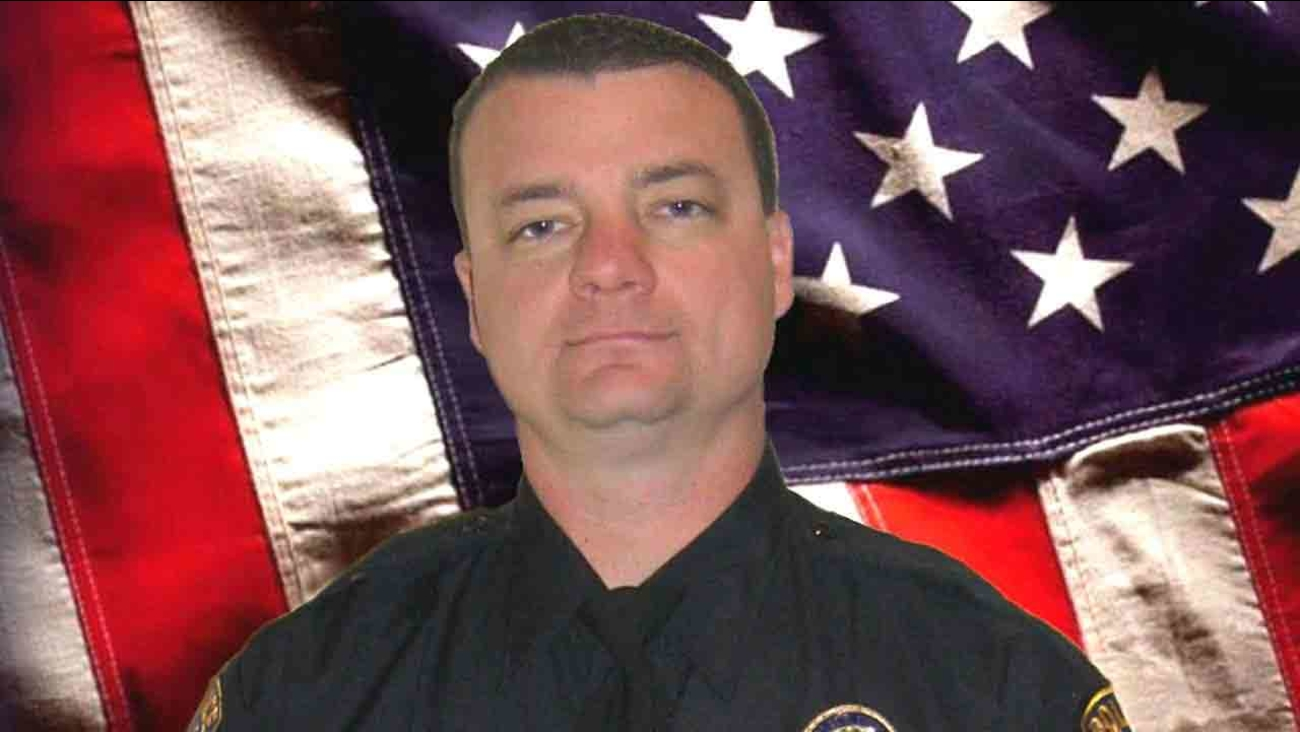 Riverside Police Officer Mike Crain is pictured in this undated file photo. Crain was killed in an ambush while on routine patrol on Thursday, Feb. 7, 2013.
