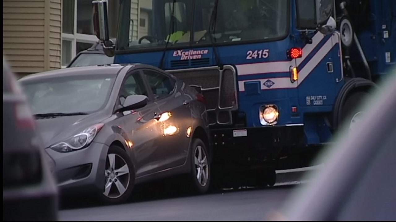 driver killed after getting pinned by his own garbage