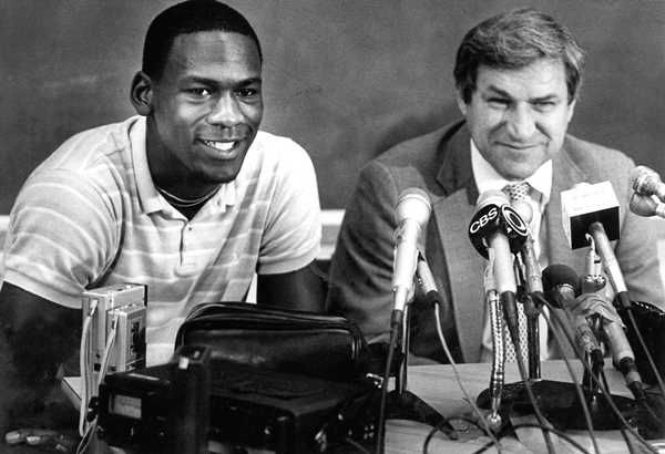 "<div class=""meta image-caption""><div class=""origin-logo origin-image none""><span>none</span></div><span class=""caption-text"">May 5, 1984, Michael Jordan and Dean Smith are shown at a news conference in Chapel Hill,where Jordan announced he would forfeit his final year of college eligibility to turn pro. (AP Photo, File)</span></div>"