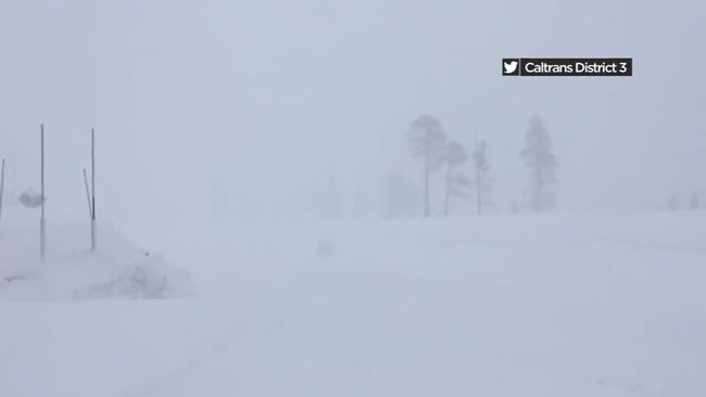 Snow forces closure of I-80 near Nevada state line
