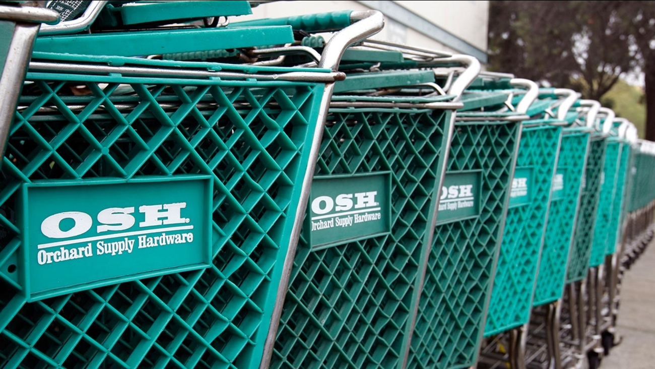 Orchard Supply Hardware shopping carts