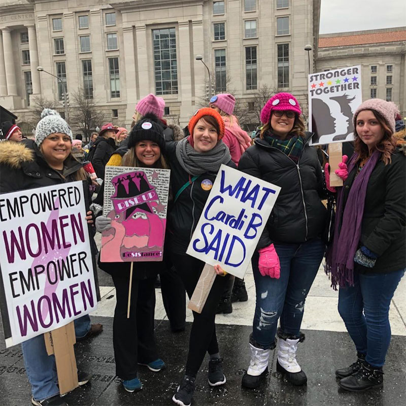 "<div class=""meta image-caption""><div class=""origin-logo origin-image kabc""><span>kabc</span></div><span class=""caption-text"">Demonstrators hold up signs during the Women's March in Washington on Saturday, Jan. 19, 2019. (Allison Rae/Instagram)</span></div>"