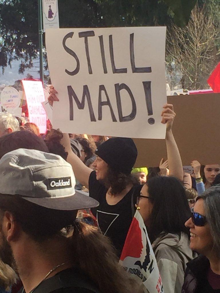 <div class='meta'><div class='origin-logo' data-origin='none'></div><span class='caption-text' data-credit='KGO-TV'>Demonstrators are seen at the Women's March in Oakland on Saturday, Jan. 19, 2019.</span></div>