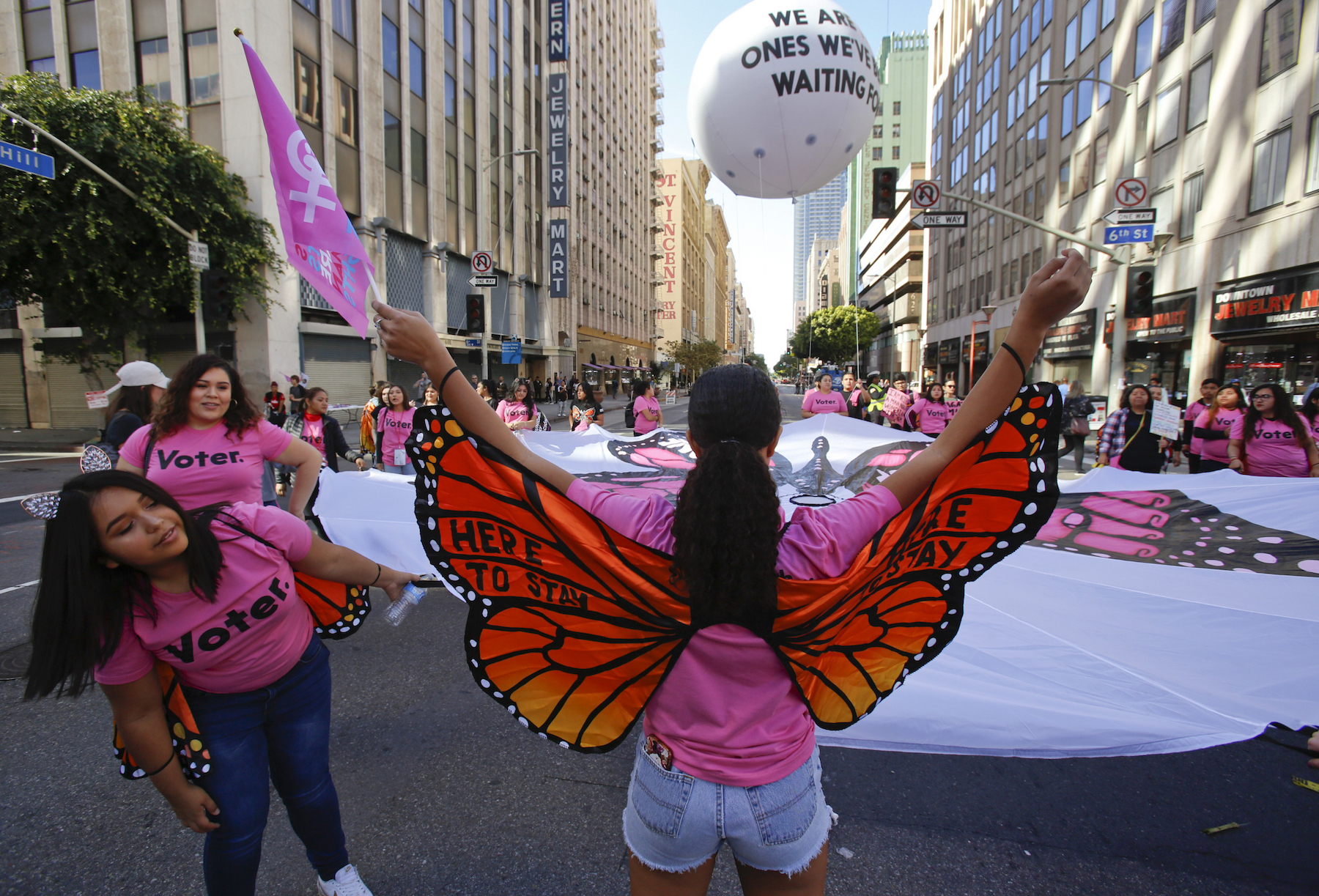 "<div class=""meta image-caption""><div class=""origin-logo origin-image ap""><span>AP</span></div><span class=""caption-text"">Women with ""Music Changing Lives"" rally at the Women's March in Los Angeles on Saturday, Jan. 19, 2019. (AP Photo/Damian Dovarganes)</span></div>"