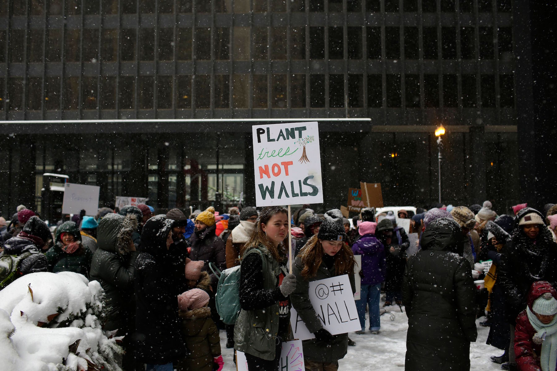 "<div class=""meta image-caption""><div class=""origin-logo origin-image kabc""><span>kabc</span></div><span class=""caption-text"">Demonstrators gather during the Young Women's March at Federal Plaza on January 19, 2019 in Chicago, Illinois. (Joshua Lott/AFP/Getty Images)</span></div>"
