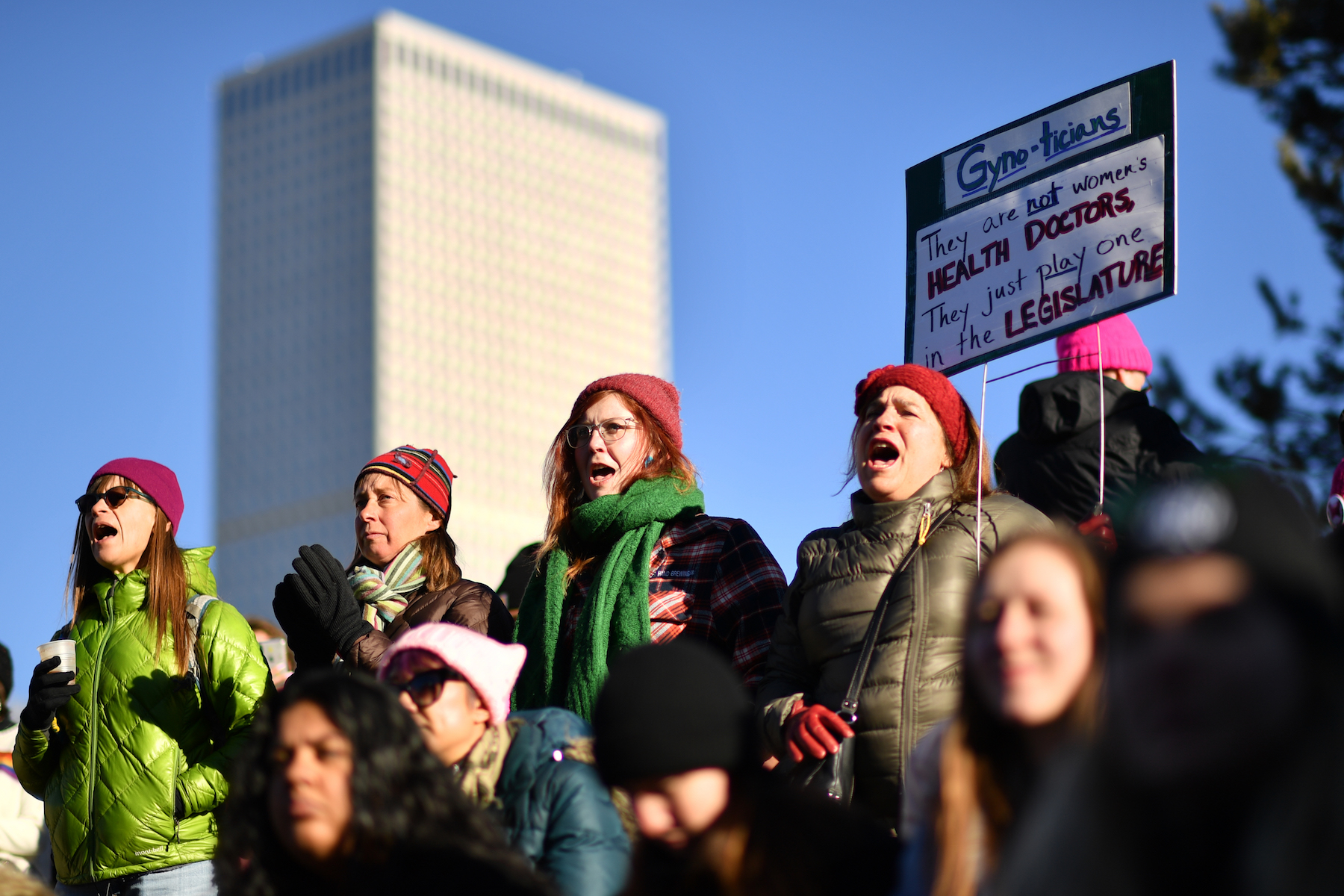 "<div class=""meta image-caption""><div class=""origin-logo origin-image kabc""><span>kabc</span></div><span class=""caption-text"">The Women'€™s March on Denver begin assembling at Civic Center Park in downtown Denver. January 19, 2019. (Hyoung Chang/Denver Post via Getty Images)</span></div>"