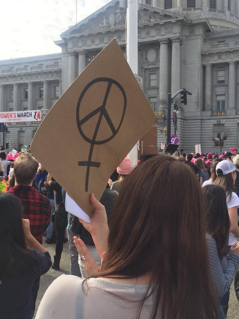 <div class='meta'><div class='origin-logo' data-origin='none'></div><span class='caption-text' data-credit='KGO-TV'>Demonstrators are seen at the Women's March in San Jose,aDemonstrators are seen at the Women's March in San Francisco on Saturday, Jan. 19, 2019. Calif. on Saturday, Jan. 19, 2019.</span></div>