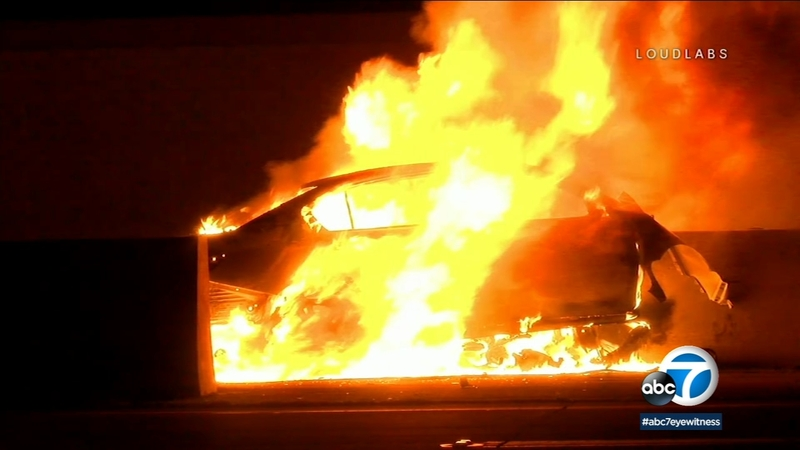 Driver killed in fiery wrong-way crash on 91 Freeway in Anaheim