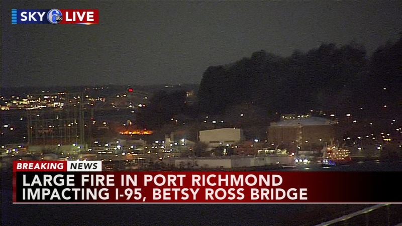 Fire forces closure of major bridge over Delaware River