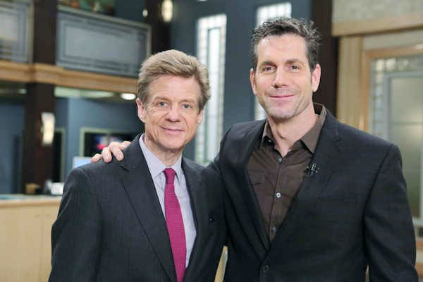 """<div class=""""meta image-caption""""><div class=""""origin-logo origin-image none""""><span>none</span></div><span class=""""caption-text"""">Eyewitness News entertainment reporter Sandy Kenyon played a small part as a prison guard on the daytime soap opera 'General Hospital'. (With Executive Producer Frank Valentini.)</span></div>"""