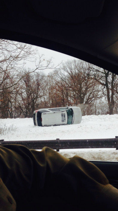 "<div class=""meta image-caption""><div class=""origin-logo origin-image none""><span>none</span></div><span class=""caption-text"">One of several accident on Palisades Interstate Parkway due to icy conditions</span></div>"