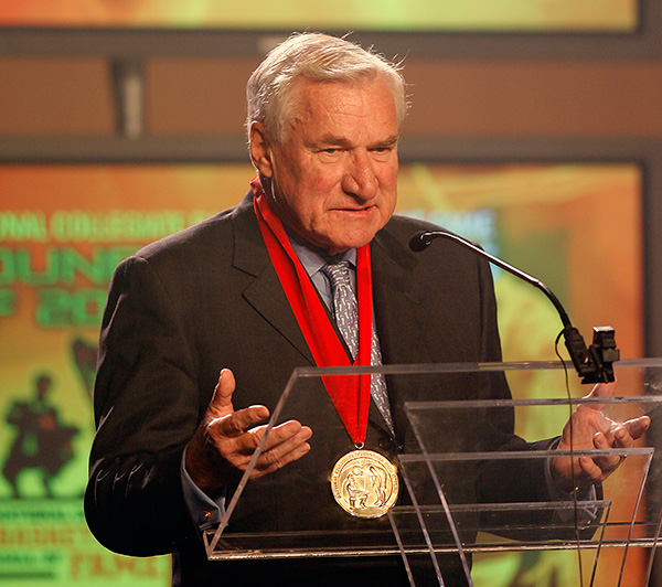 <div class='meta'><div class='origin-logo' data-origin='none'></div><span class='caption-text' data-credit='AP Photo/Ed Zurga'>Dean Smith, the coaching innovator who won two national championships at North Carolina, an Olympic gold medal and induction into basketball's Hall of Fame, died Feb. 7, 2015.</span></div>