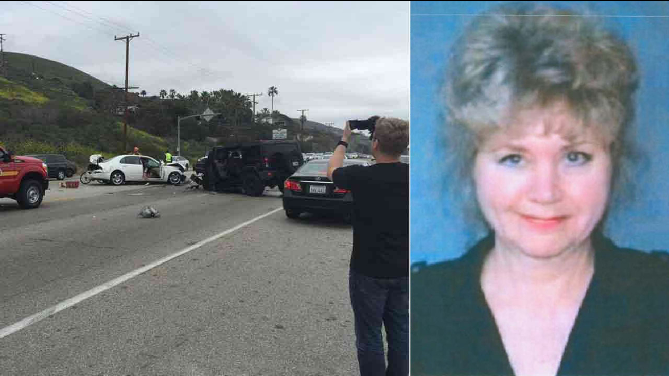Kim Howe, 69, was killed in a chain-reaction crash involving Bruce Jenner in Malibu on Saturday, Feb. 7, 2015.