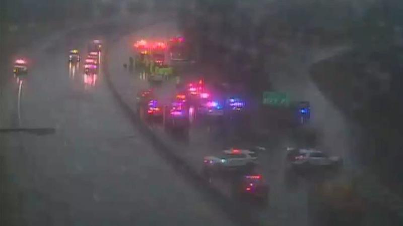 Pedestrian killed, state trooper injured in Meadowbrook Parkway crash
