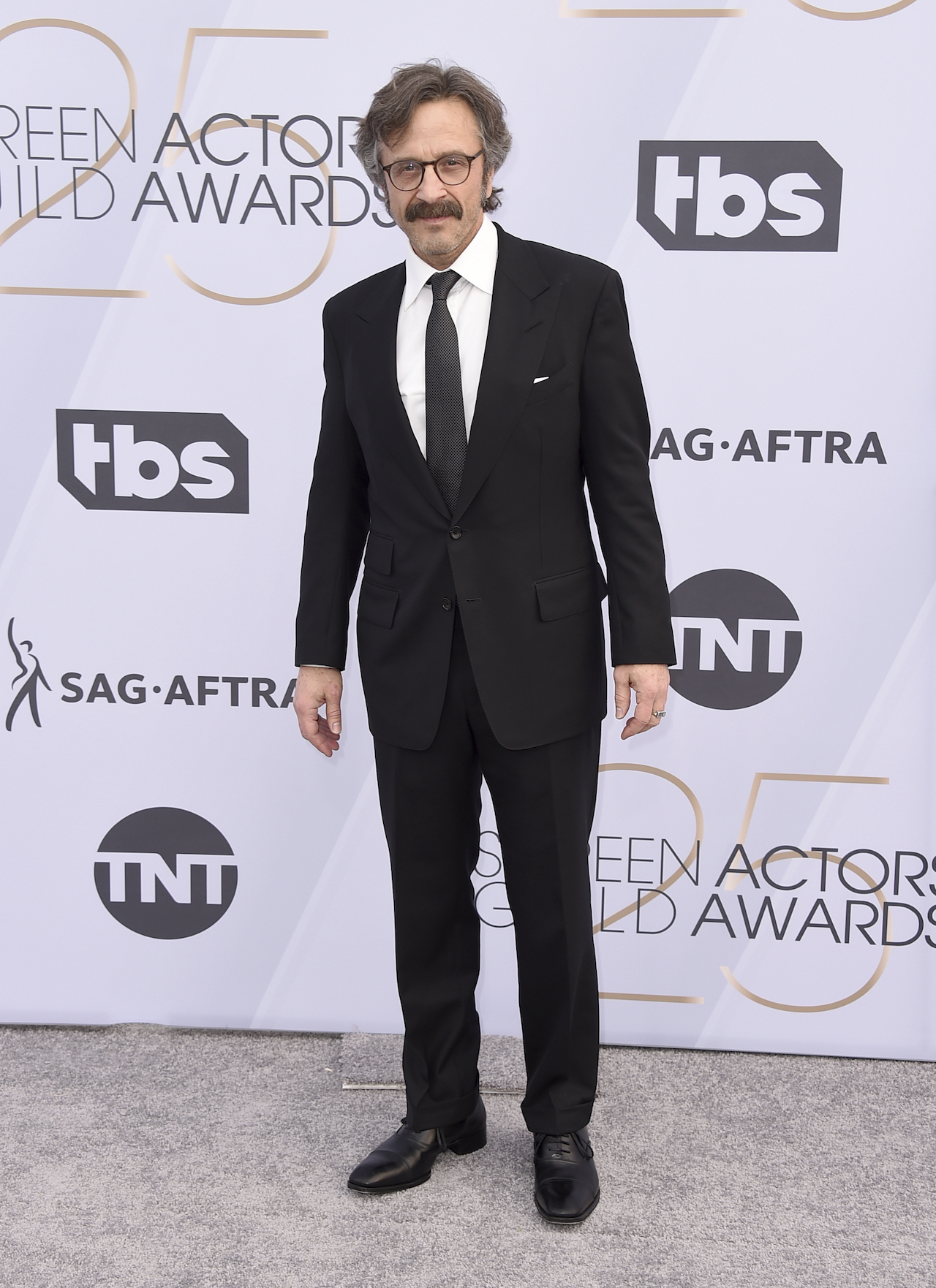 <div class='meta'><div class='origin-logo' data-origin='AP'></div><span class='caption-text' data-credit='Jordan Strauss/Invision/AP'>Marc Maron arrives at the 25th annual Screen Actors Guild Awards at the Shrine Auditorium & Expo Hall on Sunday, Jan. 27, 2019, in Los Angeles.</span></div>