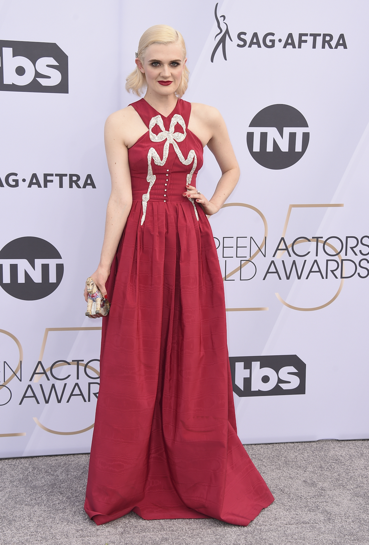 <div class='meta'><div class='origin-logo' data-origin='AP'></div><span class='caption-text' data-credit='Jordan Strauss/Invision/AP'>Gayle Rankin arrives at the 25th annual Screen Actors Guild Awards at the Shrine Auditorium & Expo Hall on Sunday, Jan. 27, 2019, in Los Angeles.</span></div>