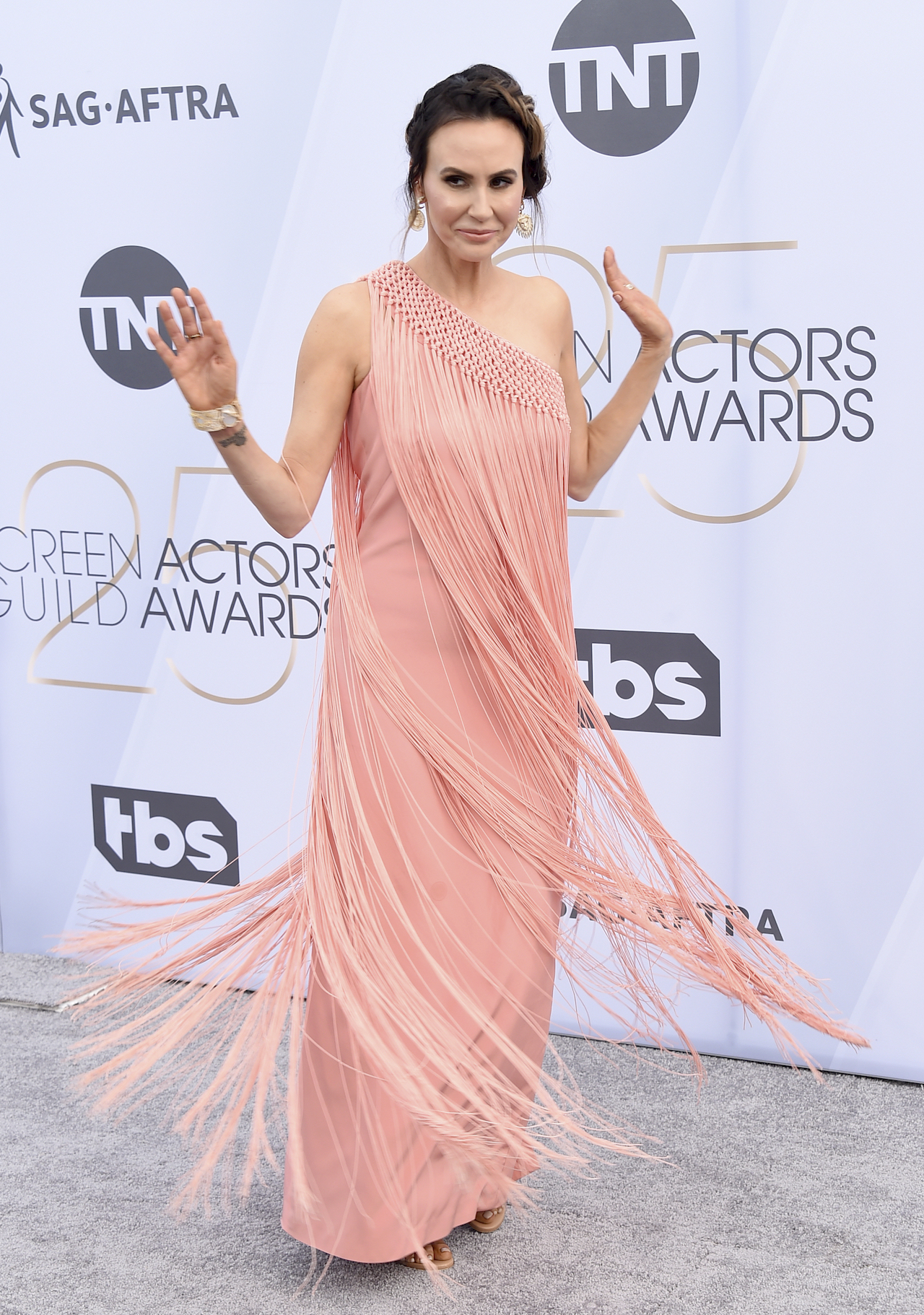 "<div class=""meta image-caption""><div class=""origin-logo origin-image ap""><span>AP</span></div><span class=""caption-text"">Keltie Knight arrives at the 25th annual Screen Actors Guild Awards at the Shrine Auditorium & Expo Hall on Sunday, Jan. 27, 2019, in Los Angeles. (Jordan Strauss/Invision/AP)</span></div>"