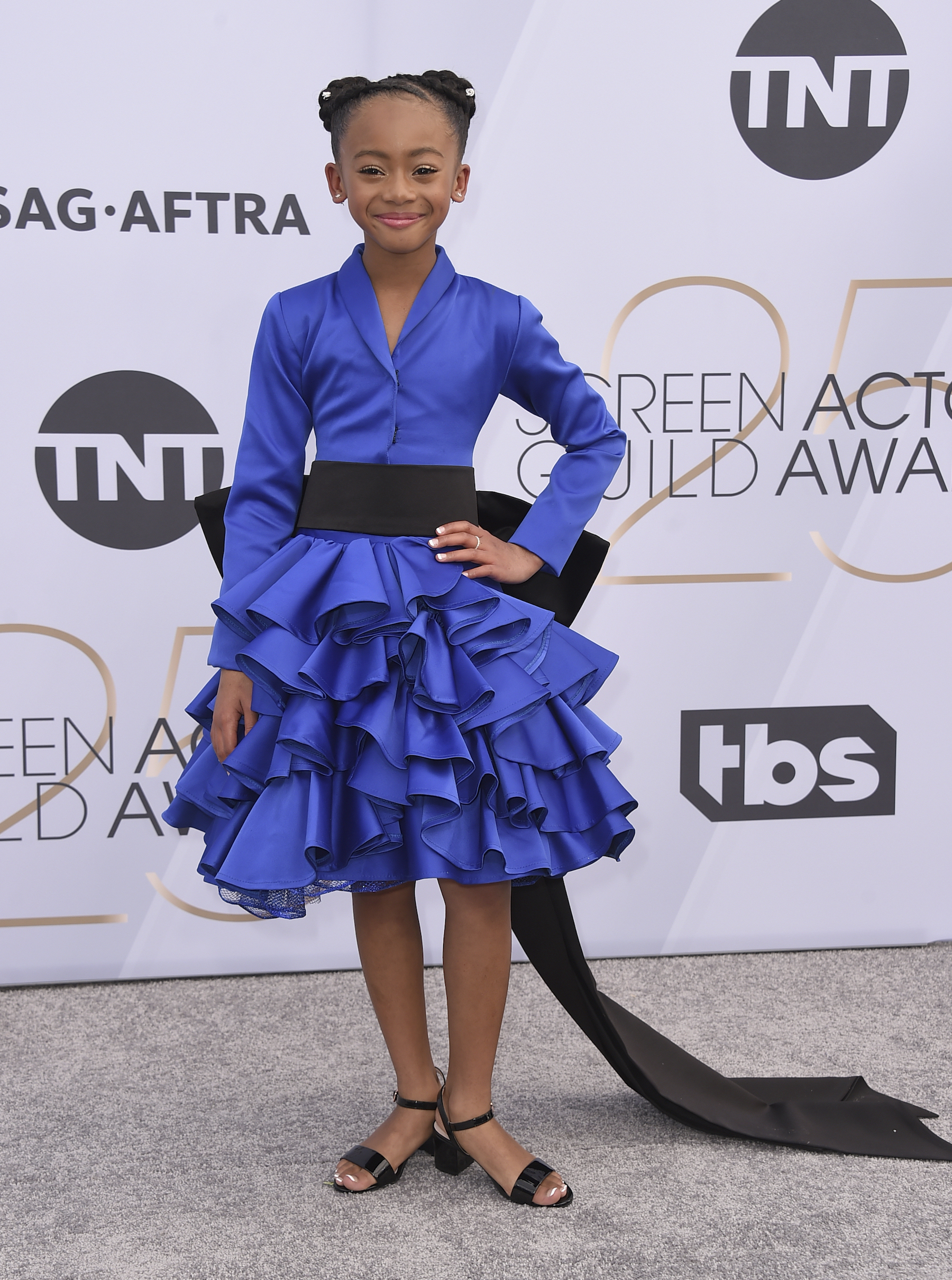 <div class='meta'><div class='origin-logo' data-origin='AP'></div><span class='caption-text' data-credit='Jordan Strauss/Invision/AP'>Faithe C. Herman arrives at the 25th annual Screen Actors Guild Awards at the Shrine Auditorium & Expo Hall on Sunday, Jan. 27, 2019, in Los Angeles.</span></div>