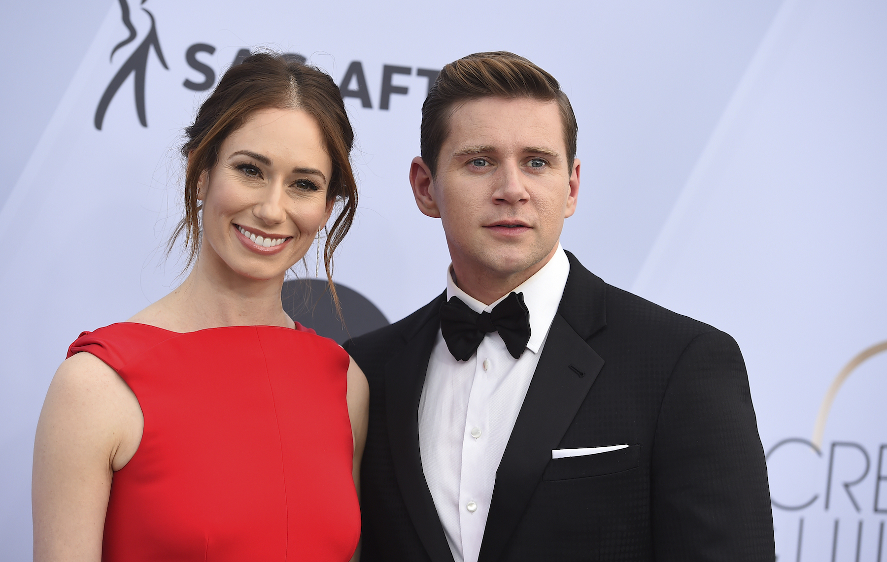 <div class='meta'><div class='origin-logo' data-origin='AP'></div><span class='caption-text' data-credit='Jordan Strauss/Invision/AP'>Jessica Blair Herman, left, and Allen Leech arrive at the 25th annual Screen Actors Guild Awards at the Shrine Auditorium & Expo Hall on Sunday, Jan. 27, 2019, in Los Angeles.</span></div>