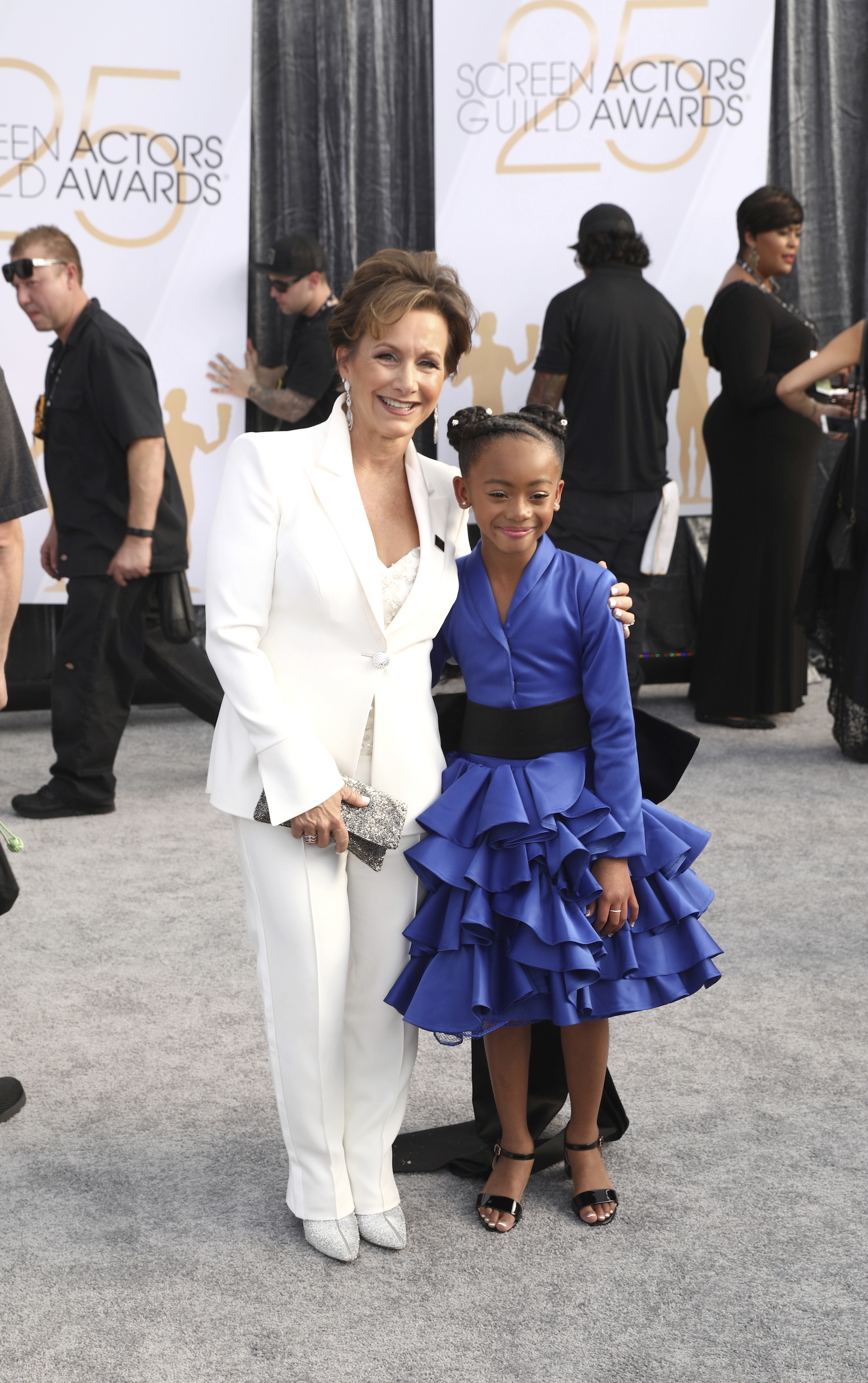 <div class='meta'><div class='origin-logo' data-origin='AP'></div><span class='caption-text' data-credit='Matt Sayles/Invision/AP'>Gabrielle Carteris, left, and Faithe C. Herman arrive at the 25th annual Screen Actors Guild Awards at the Shrine Auditorium & Expo Hall on Sunday, Jan. 27, 2019, in Los Angeles.</span></div>