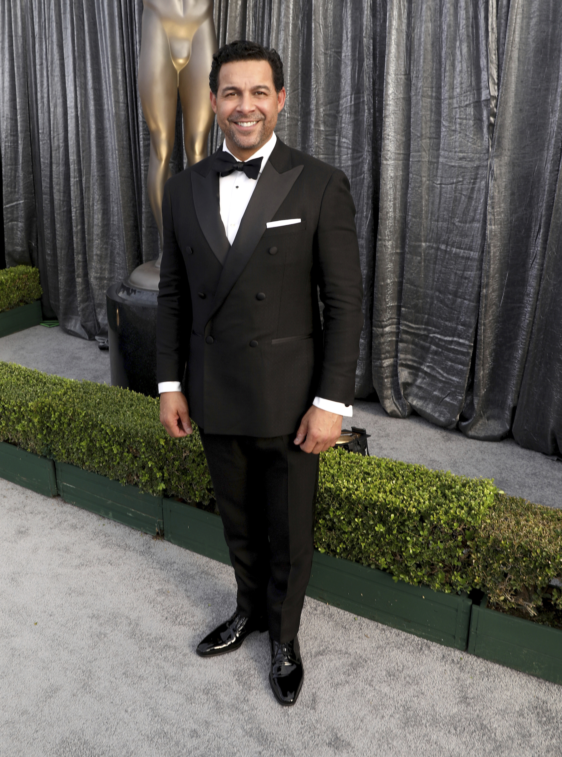 <div class='meta'><div class='origin-logo' data-origin='AP'></div><span class='caption-text' data-credit='Matt Sayles/Invision/AP'>Jon Huertas arrives at the 25th annual Screen Actors Guild Awards at the Shrine Auditorium & Expo Hall on Sunday, Jan. 27, 2019, in Los Angeles.</span></div>