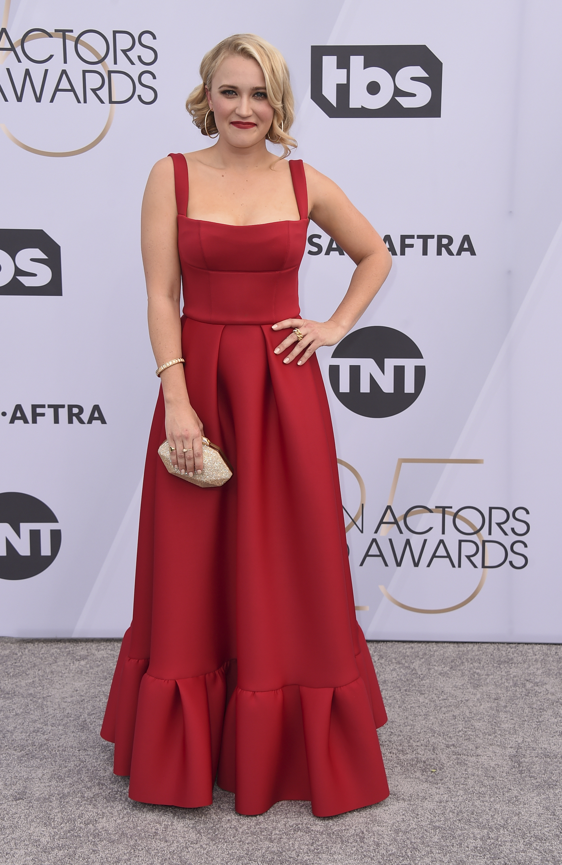 <div class='meta'><div class='origin-logo' data-origin='AP'></div><span class='caption-text' data-credit='Jordan Strauss/Invision/AP'>Emily Osment arrives at the 25th annual Screen Actors Guild Awards at the Shrine Auditorium & Expo Hall on Sunday, Jan. 27, 2019, in Los Angeles.</span></div>