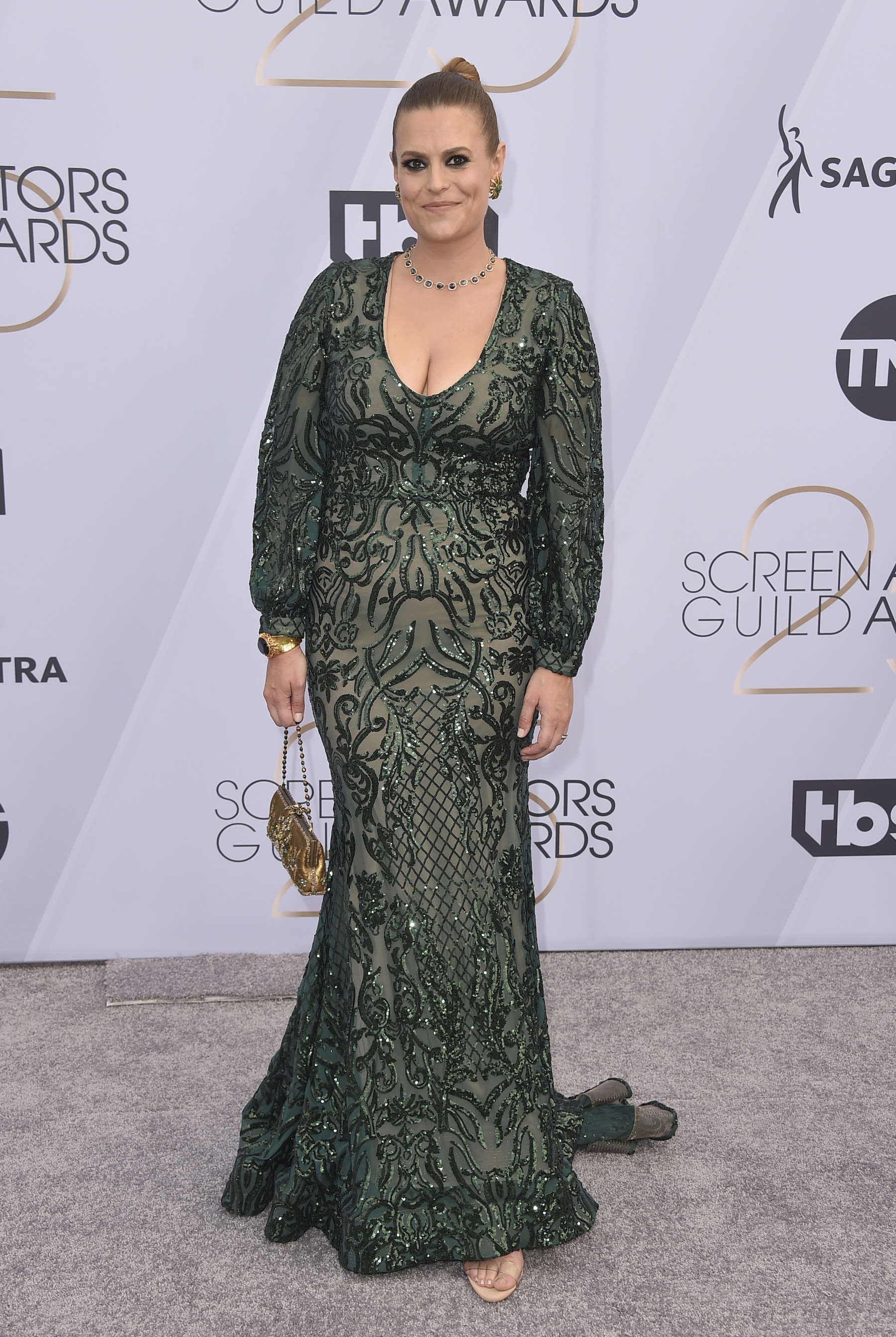 <div class='meta'><div class='origin-logo' data-origin='AP'></div><span class='caption-text' data-credit='Jordan Strauss/Invision/AP'>Marianna Palka arrives at the 25th annual Screen Actors Guild Awards at the Shrine Auditorium & Expo Hall on Sunday, Jan. 27, 2019, in Los Angeles.</span></div>