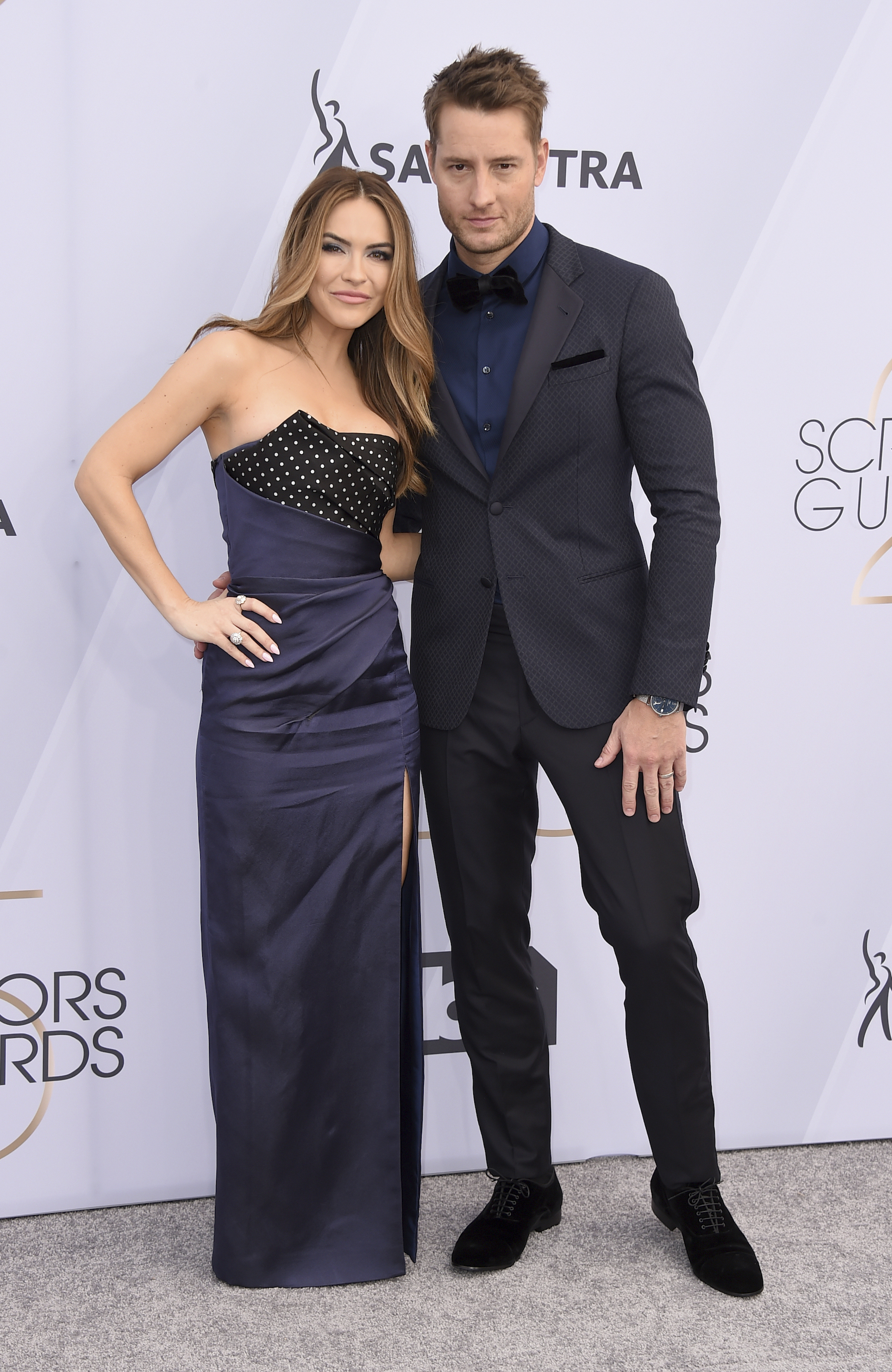 <div class='meta'><div class='origin-logo' data-origin='AP'></div><span class='caption-text' data-credit='Jordan Strauss/Invision/AP'>Chrishell Stause, left, and Justin Hartley arrive at the 25th annual Screen Actors Guild Awards at the Shrine Auditorium & Expo Hall on Sunday, Jan. 27, 2019, in Los Angeles.</span></div>