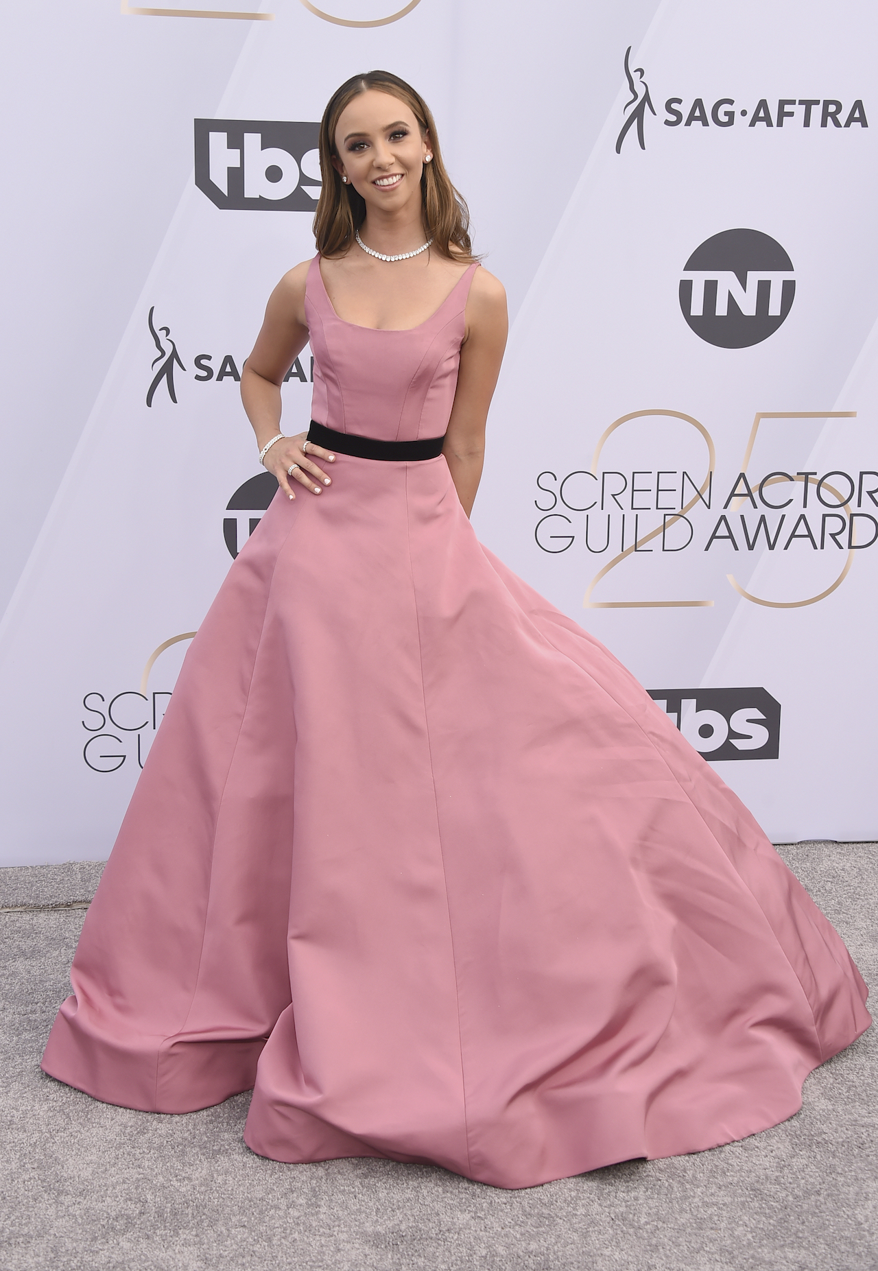 <div class='meta'><div class='origin-logo' data-origin='AP'></div><span class='caption-text' data-credit='Jordan Strauss/Invision/AP'>Britt Baron arrives at the 25th annual Screen Actors Guild Awards at the Shrine Auditorium & Expo Hall on Sunday, Jan. 27, 2019, in Los Angeles.</span></div>