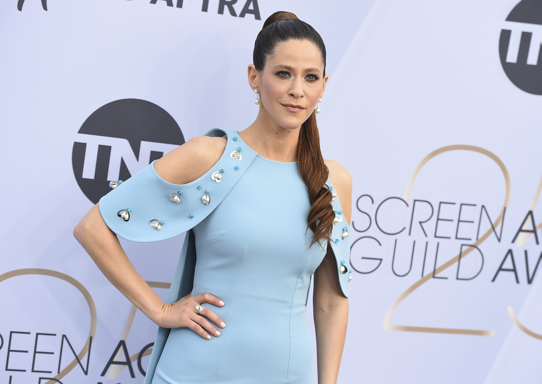 "<div class=""meta image-caption""><div class=""origin-logo origin-image ap""><span>AP</span></div><span class=""caption-text"">Jackie Tohn arrives at the 25th annual Screen Actors Guild Awards at the Shrine Auditorium & Expo Hall on Sunday, Jan. 27, 2019, in Los Angeles. (Jordan Strauss/Invision/AP)</span></div>"