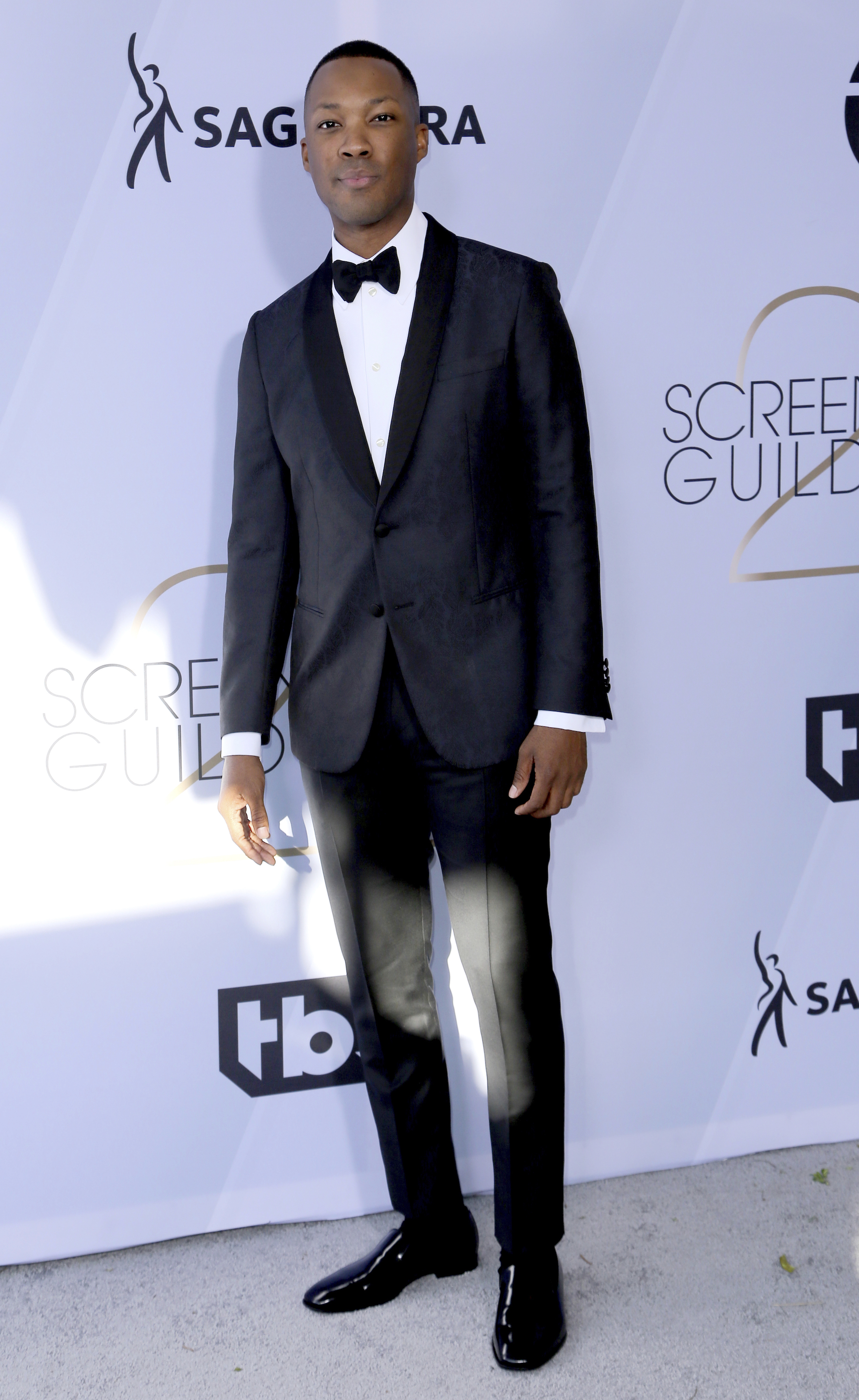<div class='meta'><div class='origin-logo' data-origin='AP'></div><span class='caption-text' data-credit='Willy Sanjuan/Invision/AP'>Corey Hawkins arrives at the 25th annual Screen Actors Guild Awards at the Shrine Auditorium & Expo Hall on Sunday, Jan. 27, 2019, in Los Angeles.</span></div>