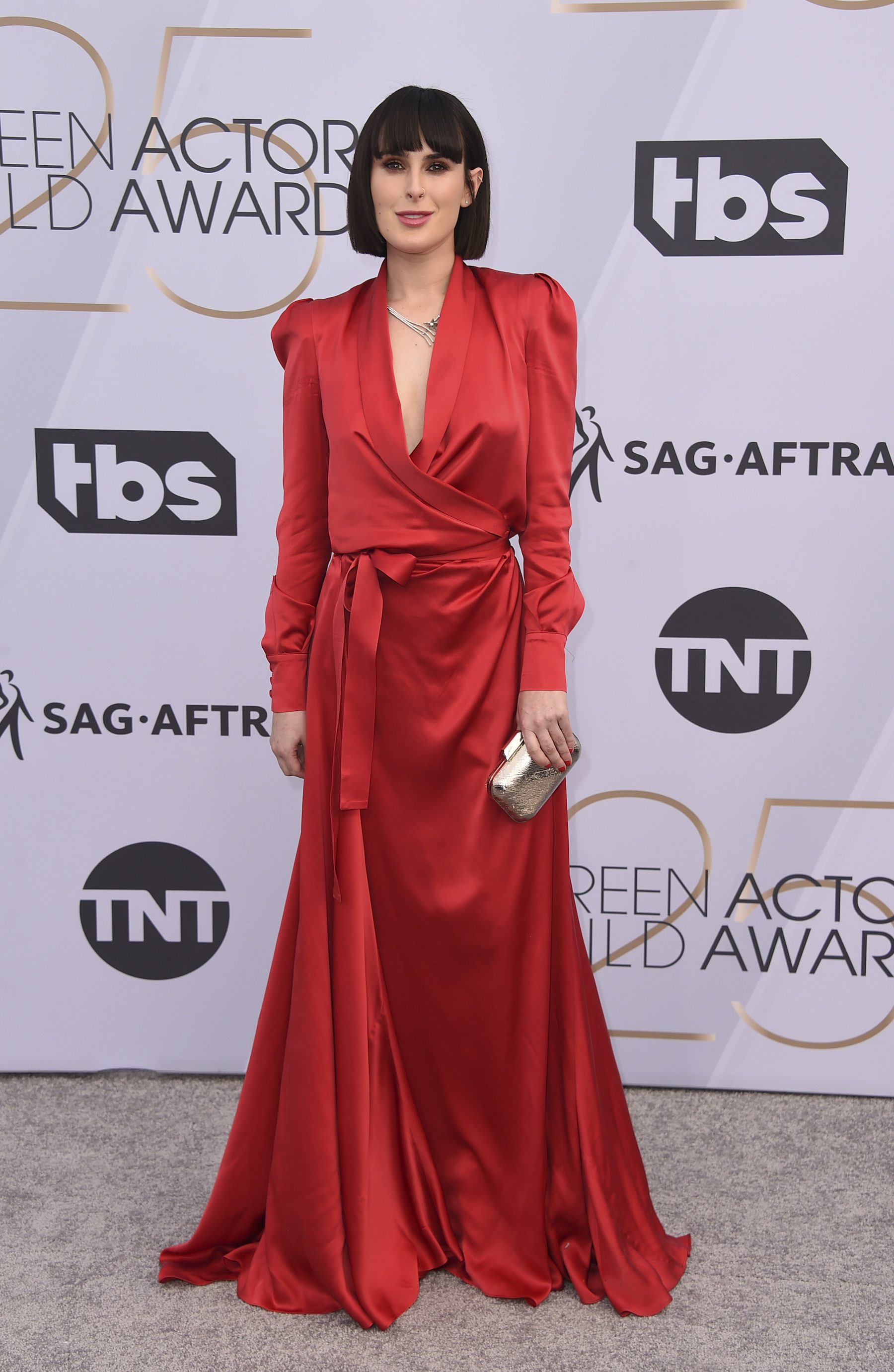 <div class='meta'><div class='origin-logo' data-origin='AP'></div><span class='caption-text' data-credit='Jordan Strauss/Invision/AP'>Rumer Willis arrives at the 25th annual Screen Actors Guild Awards at the Shrine Auditorium & Expo Hall on Sunday, Jan. 27, 2019, in Los Angeles.</span></div>