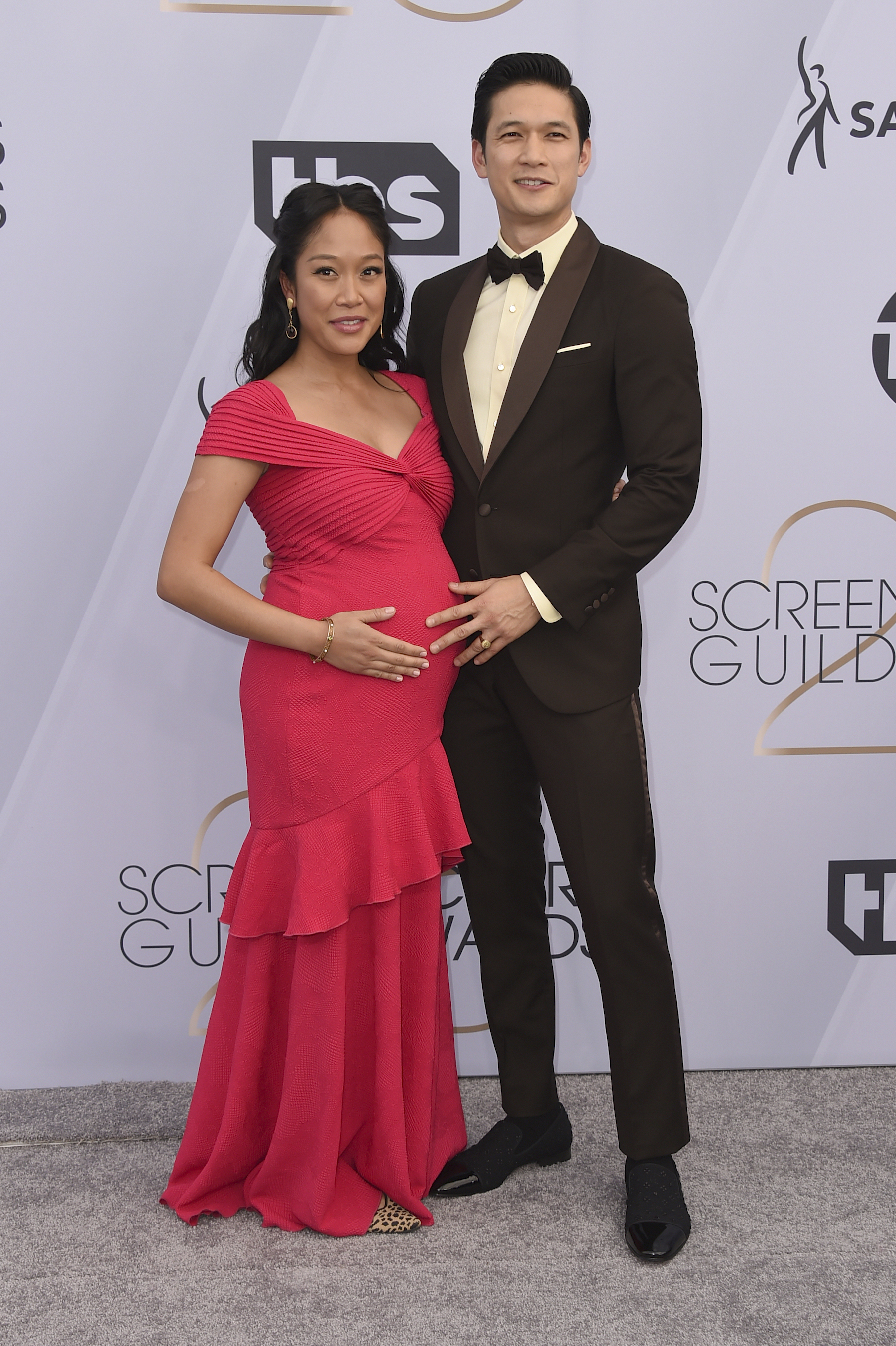 <div class='meta'><div class='origin-logo' data-origin='AP'></div><span class='caption-text' data-credit='Jordan Strauss/Invision/AP'>Shelby Rabara, left, and Harry Shum Jr. arrive at the 25th annual Screen Actors Guild Awards at the Shrine Auditorium & Expo Hall on Sunday, Jan. 27, 2019, in Los Angeles.</span></div>